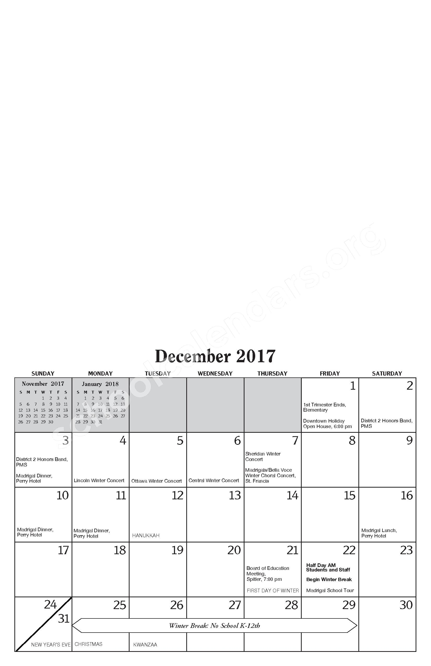 Annual Report & Calendar – Public Schools of Petoskey – page 11