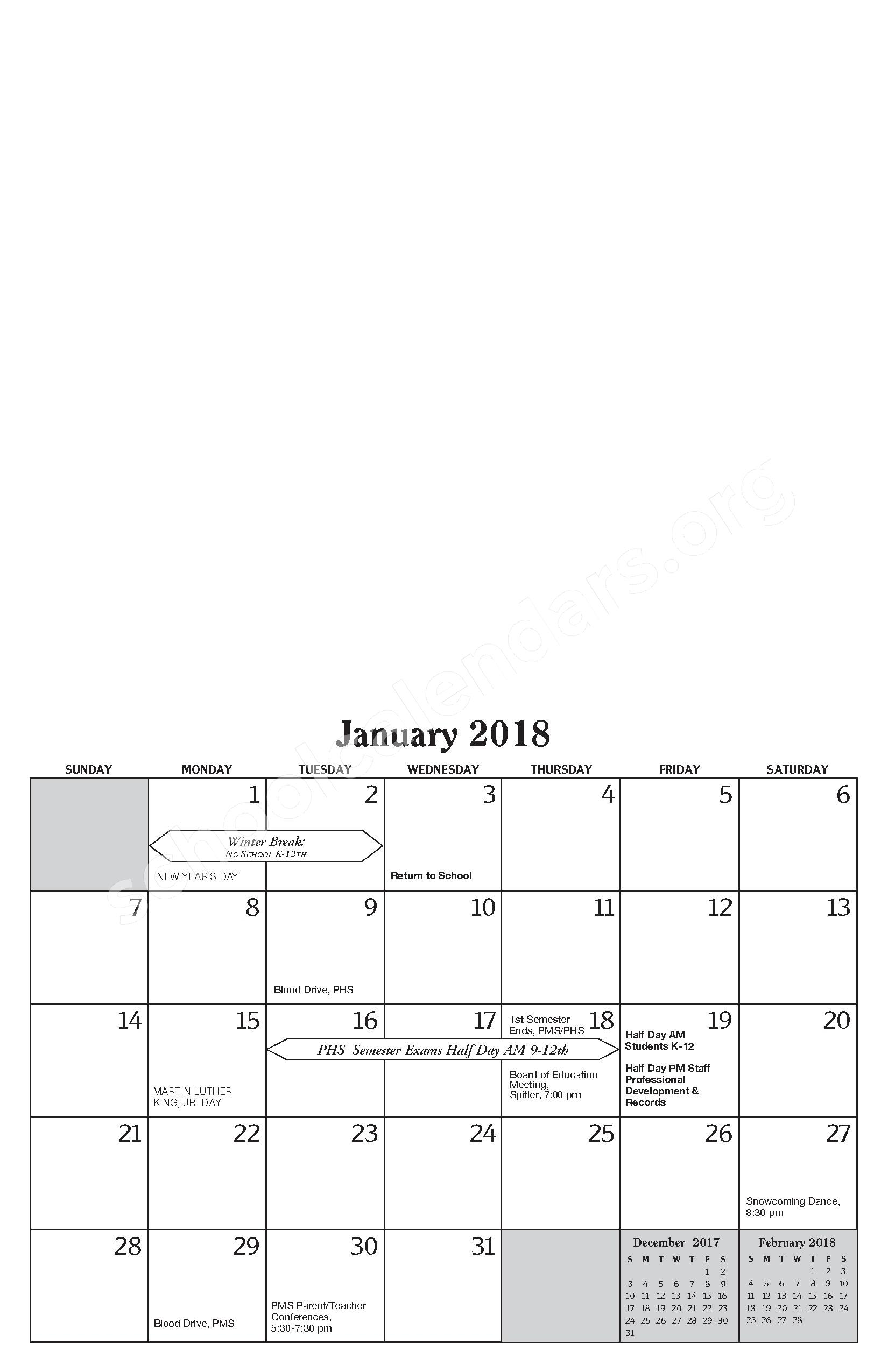 Annual Report & Calendar – Public Schools of Petoskey – page 13