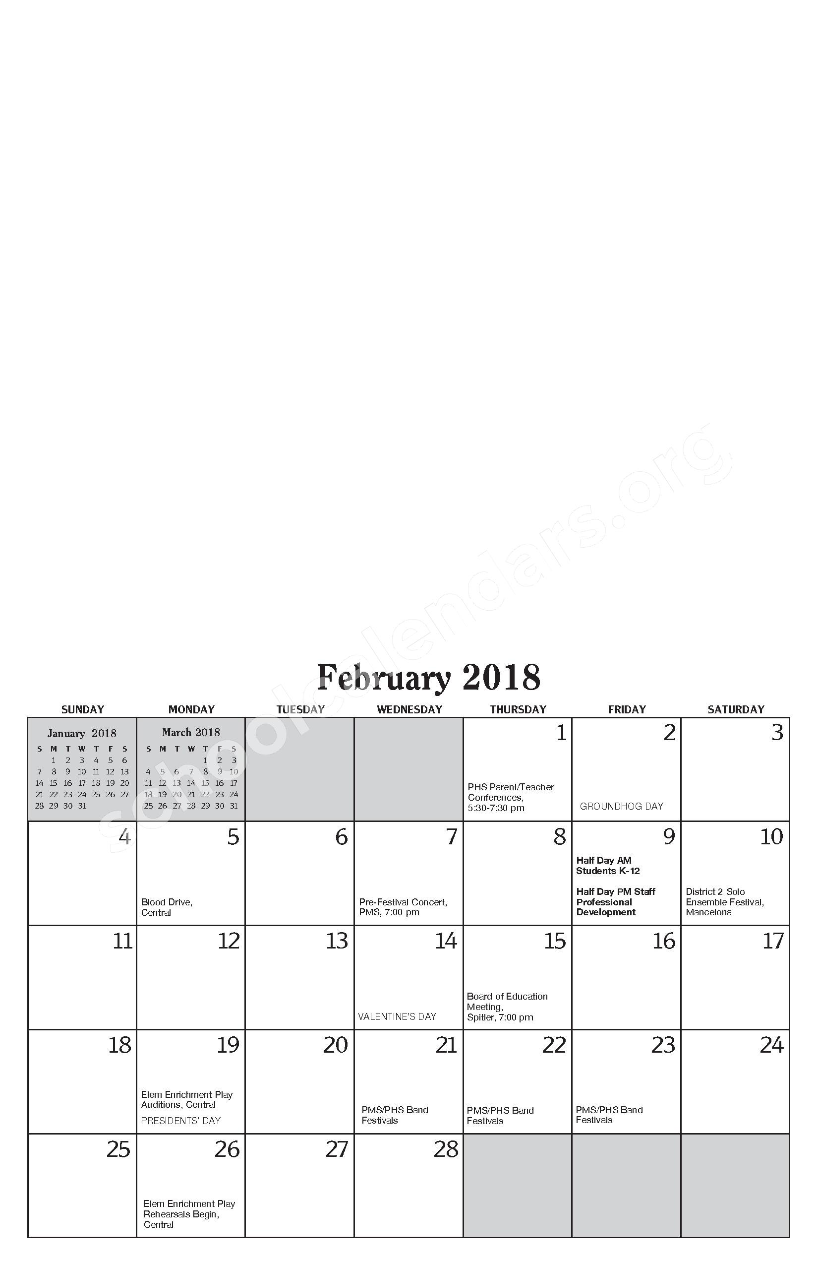 Annual Report & Calendar – Public Schools of Petoskey – page 15