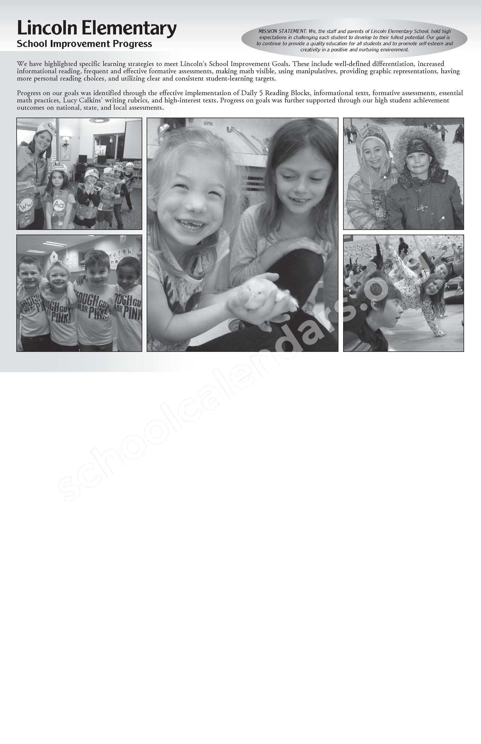 Annual Report & Calendar – Public Schools of Petoskey – page 16