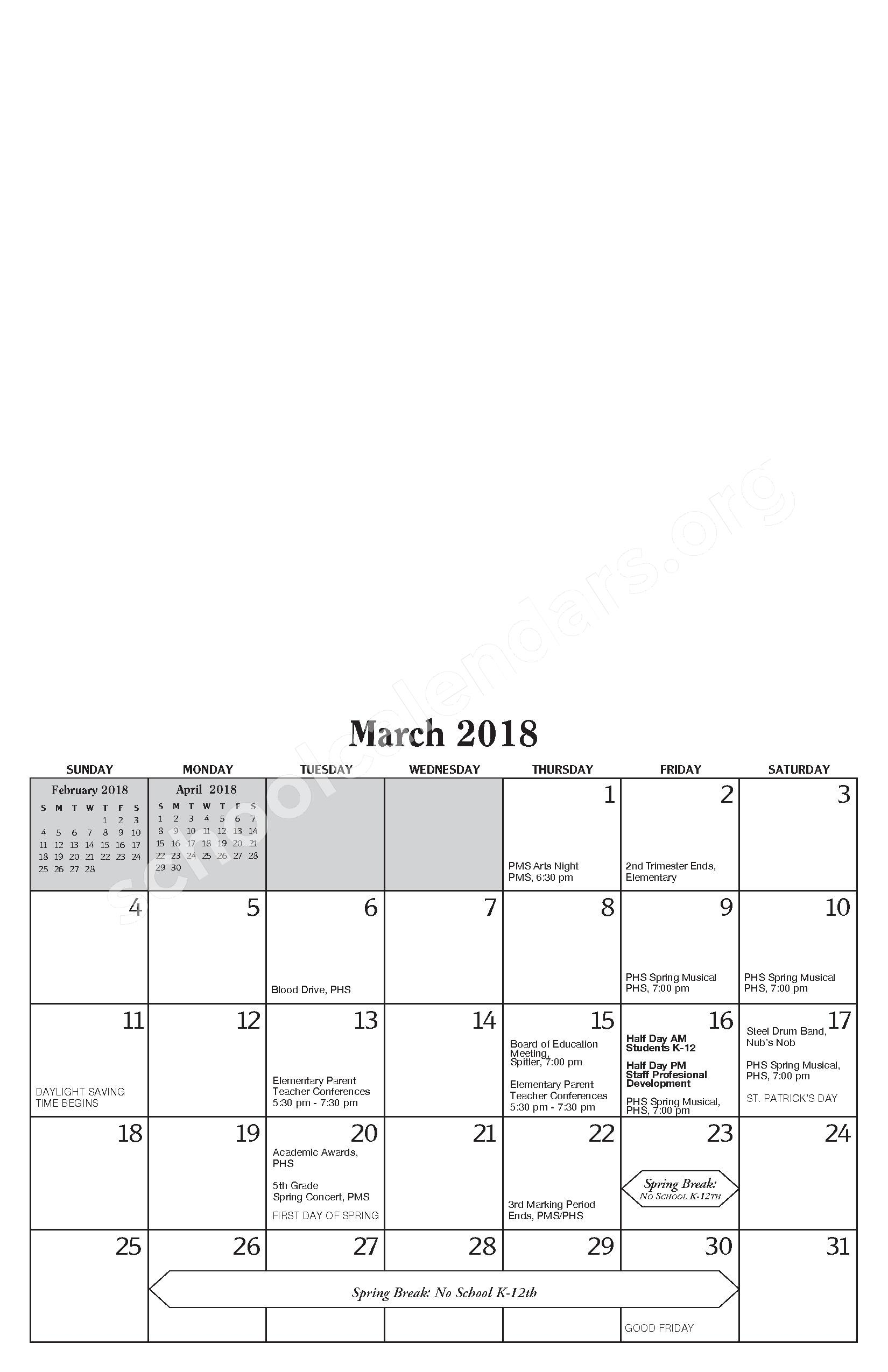 Annual Report & Calendar – Public Schools of Petoskey – page 17