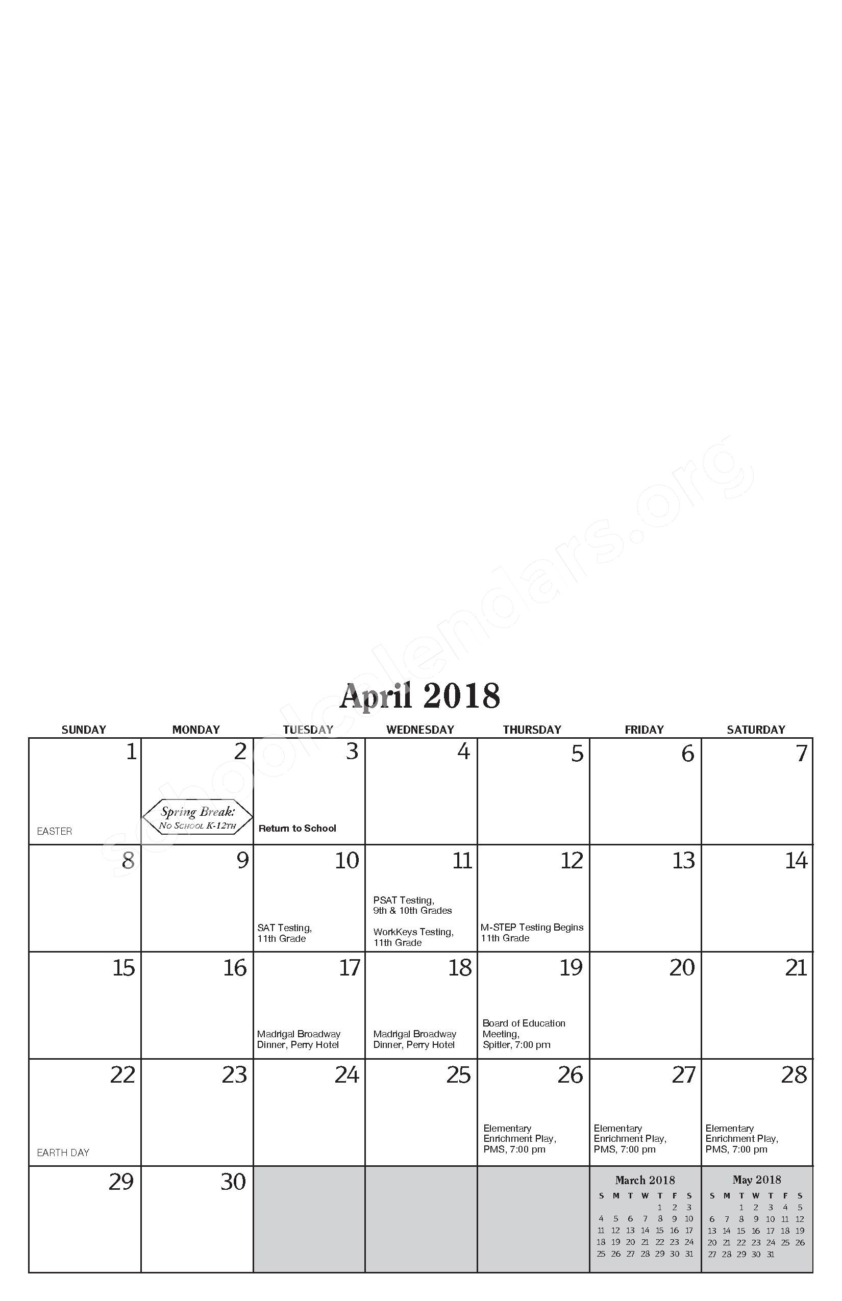 Annual Report & Calendar – Public Schools of Petoskey – page 19