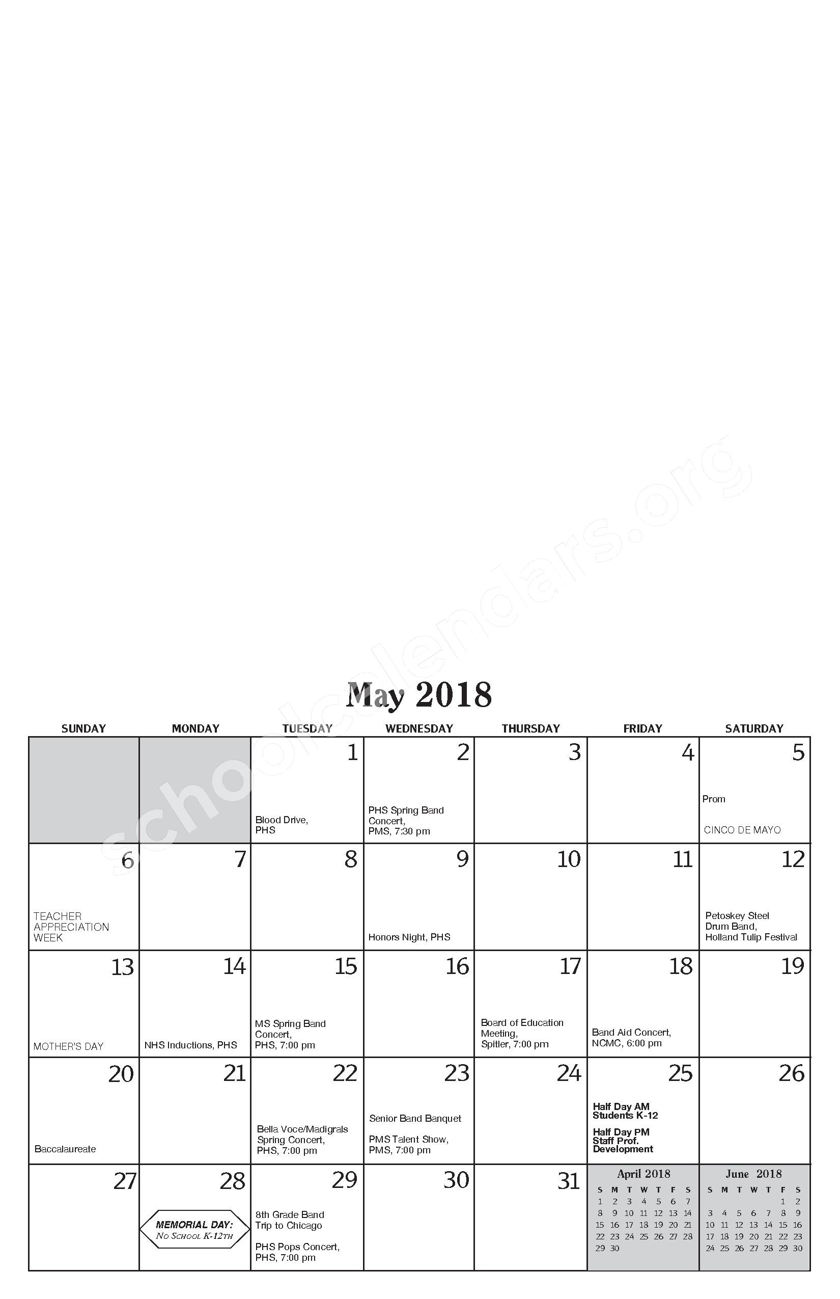 Annual Report & Calendar – Public Schools of Petoskey – page 21