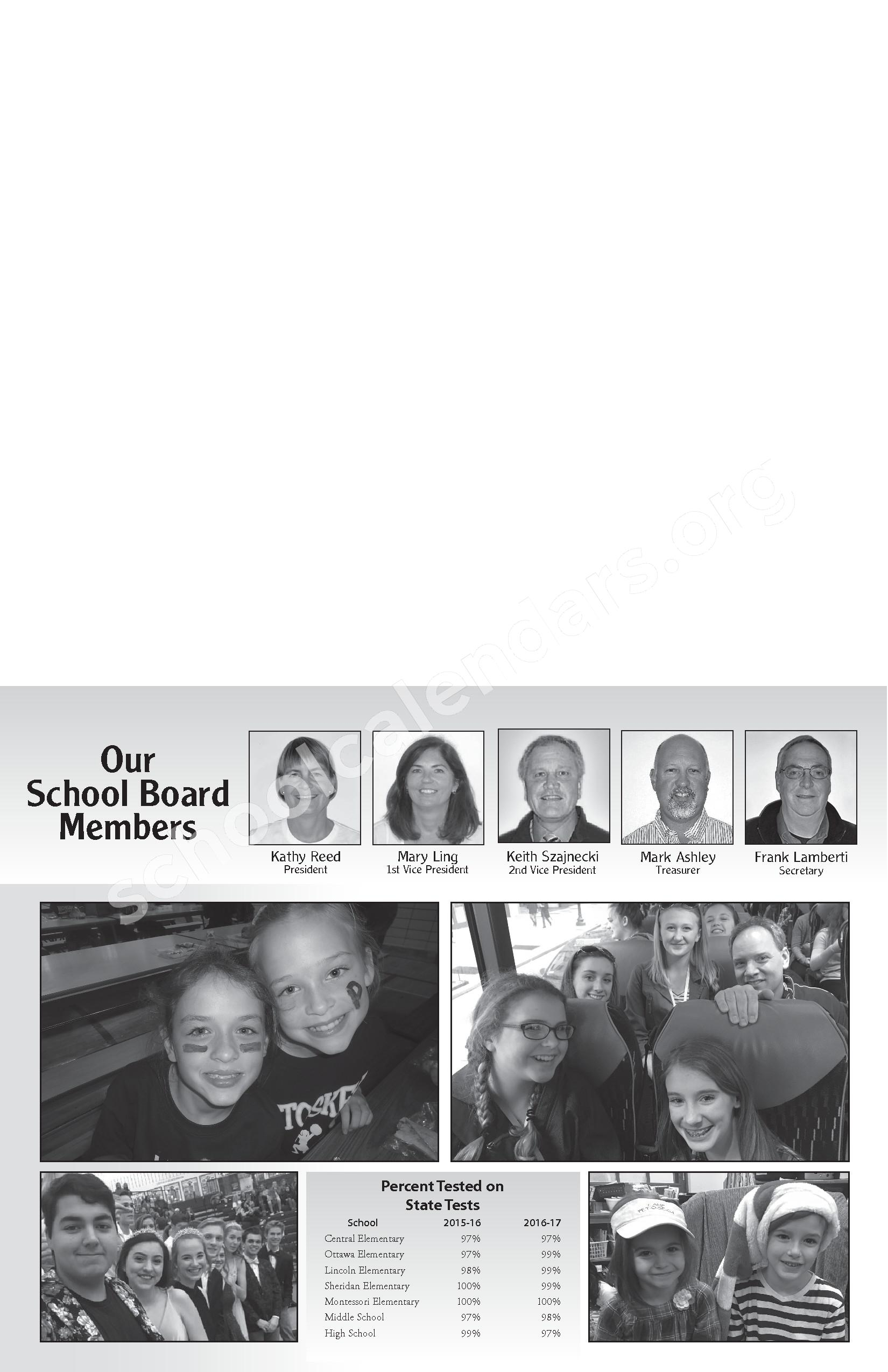 Annual Report & Calendar – Public Schools of Petoskey – page 3