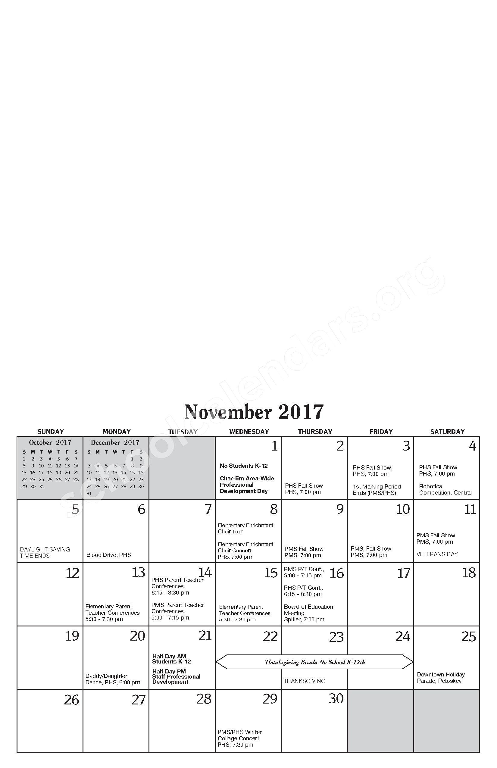 Annual Report & Calendar – Public Schools of Petoskey – page 9