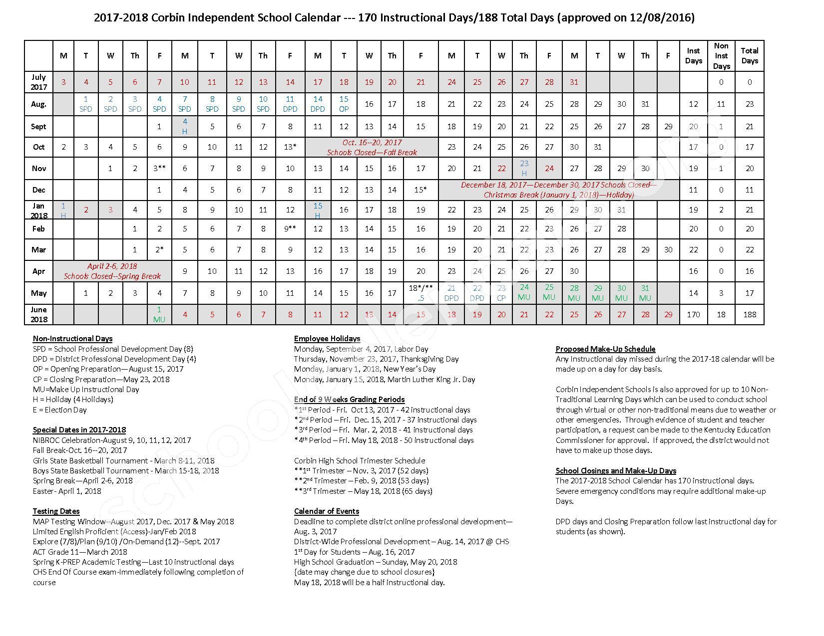 how to make a school calendar