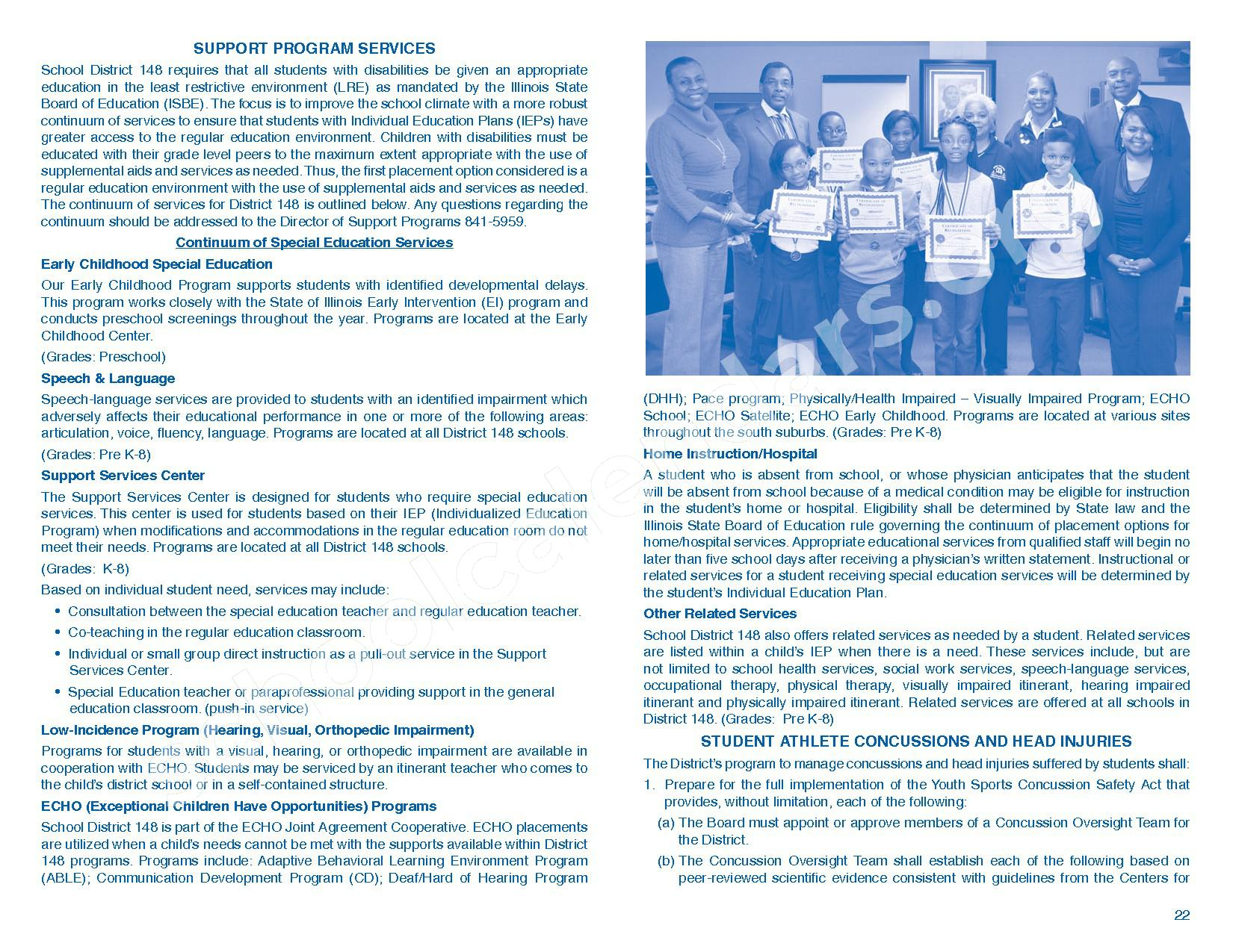 2016 - 2017 Parent/Student Handbook – Roosevelt Elementary School – page 26