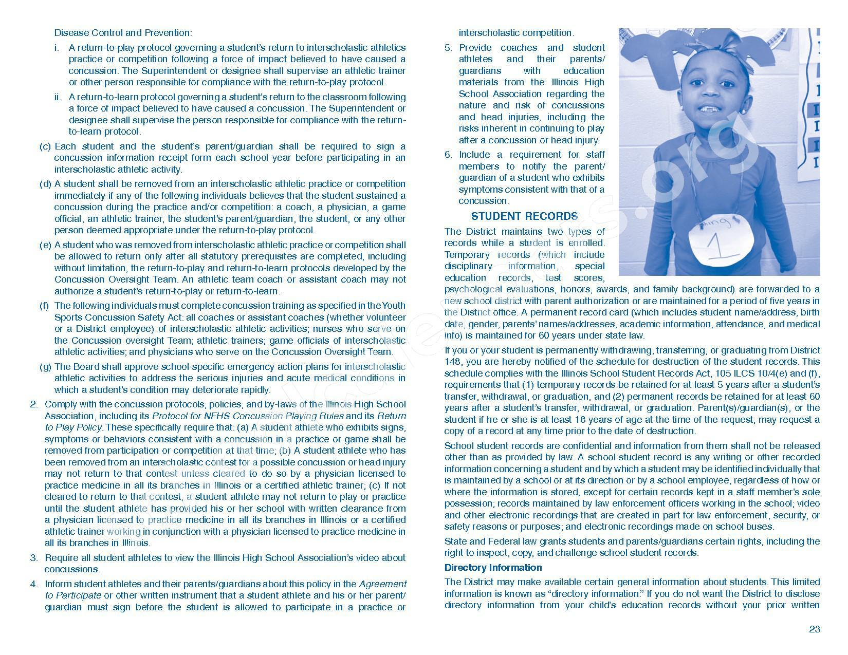 2016 - 2017 Parent/Student Handbook – Roosevelt Elementary School – page 27
