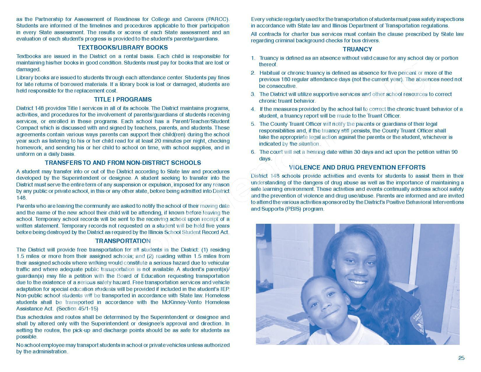 2016 - 2017 Parent/Student Handbook – Roosevelt Elementary School – page 29