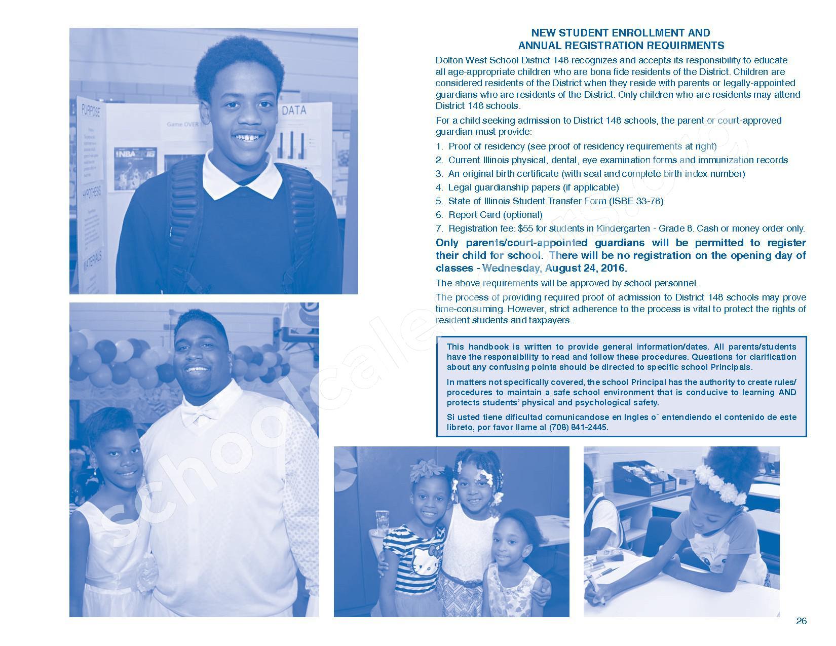 2016 - 2017 Parent/Student Handbook – Roosevelt Elementary School – page 30