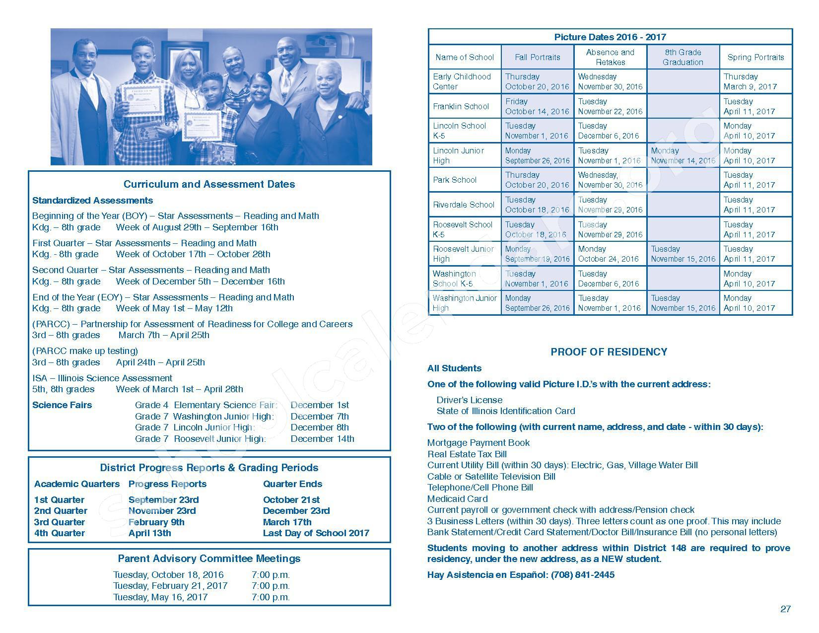2016 - 2017 Parent/Student Handbook – Roosevelt Elementary School – page 31