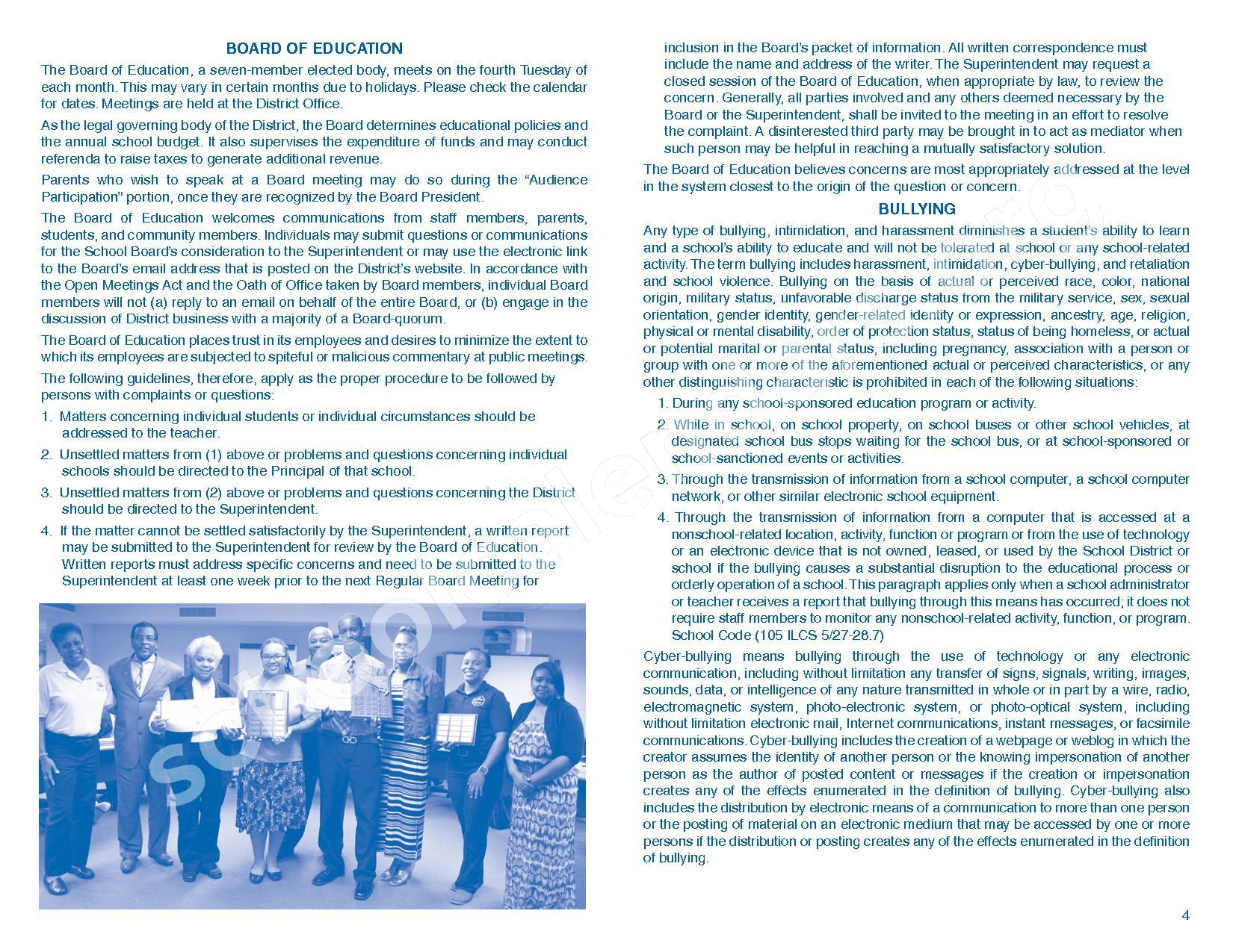 2016 - 2017 Parent/Student Handbook – Roosevelt Elementary School – page 8