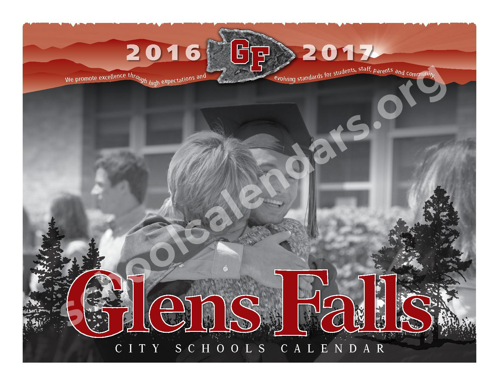 2016 - 2017 District Calendar – Glens Falls City School District – page 1