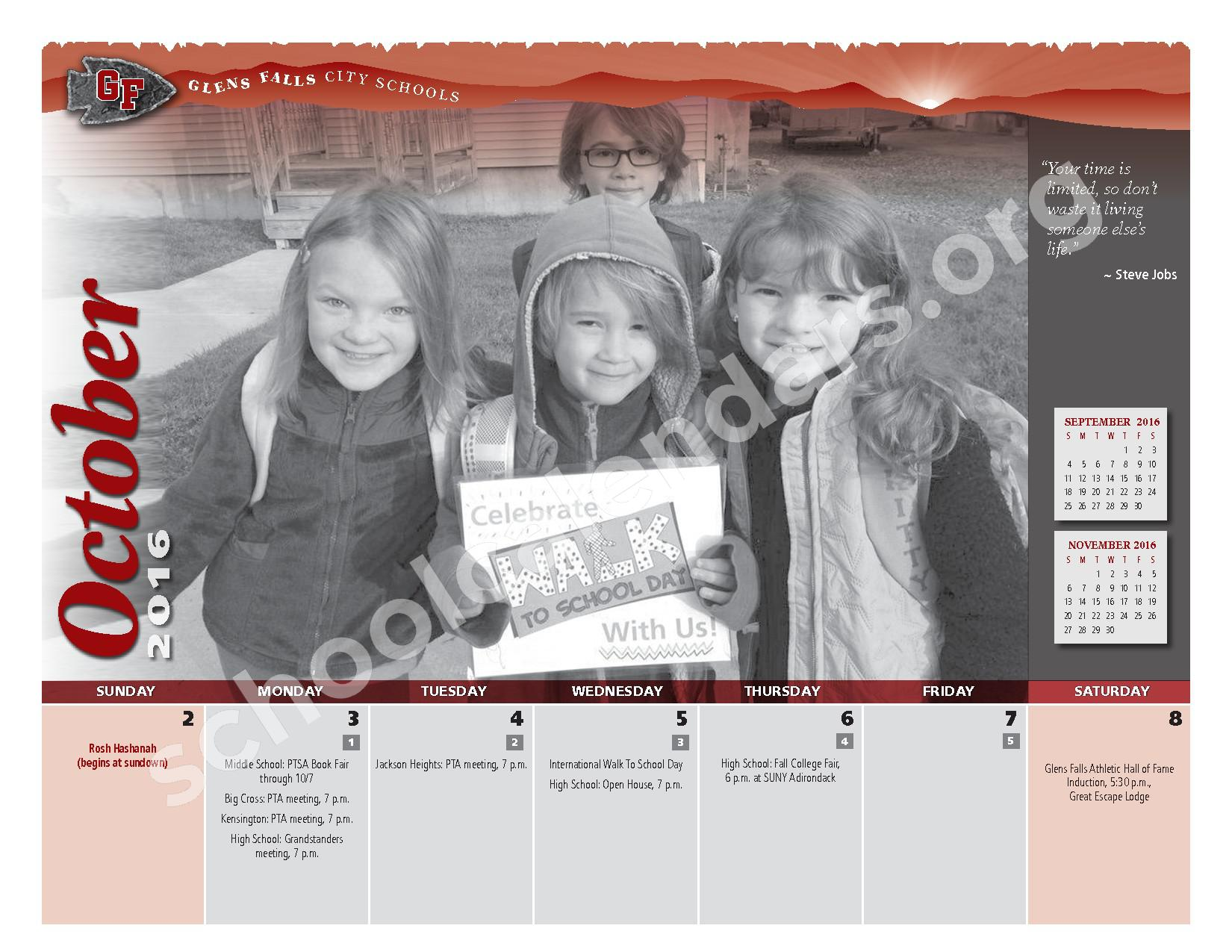 2016 - 2017 District Calendar – Glens Falls City School District – page 6