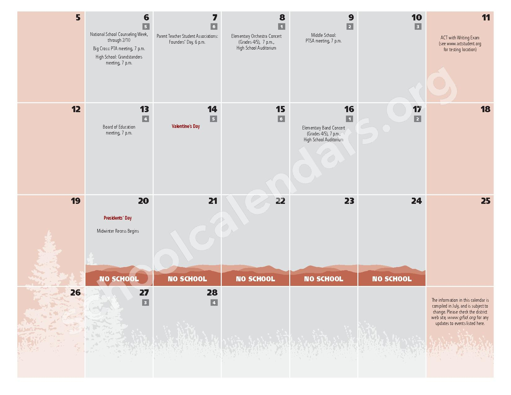 2016 - 2017  District Calendar – Glens Falls City School District – page 15