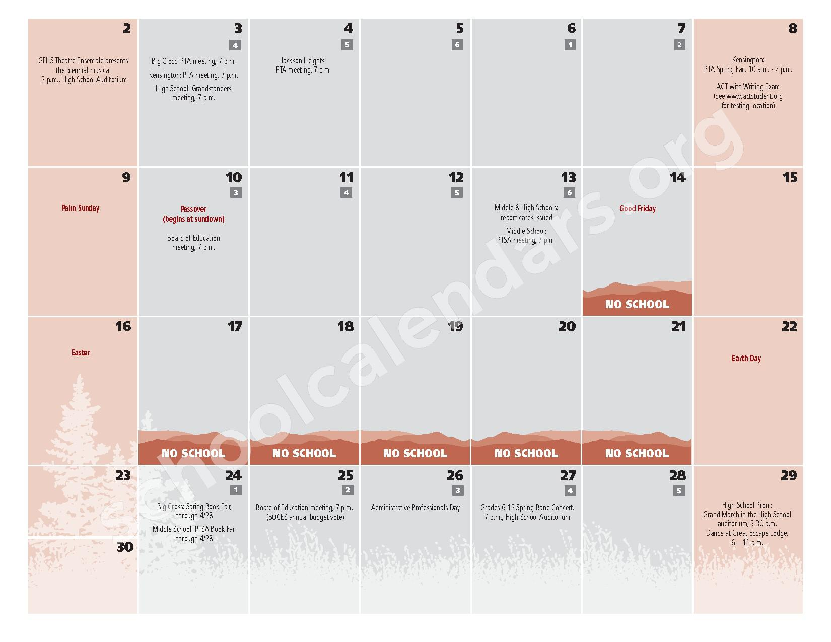 2016 - 2017  District Calendar – Glens Falls City School District – page 19