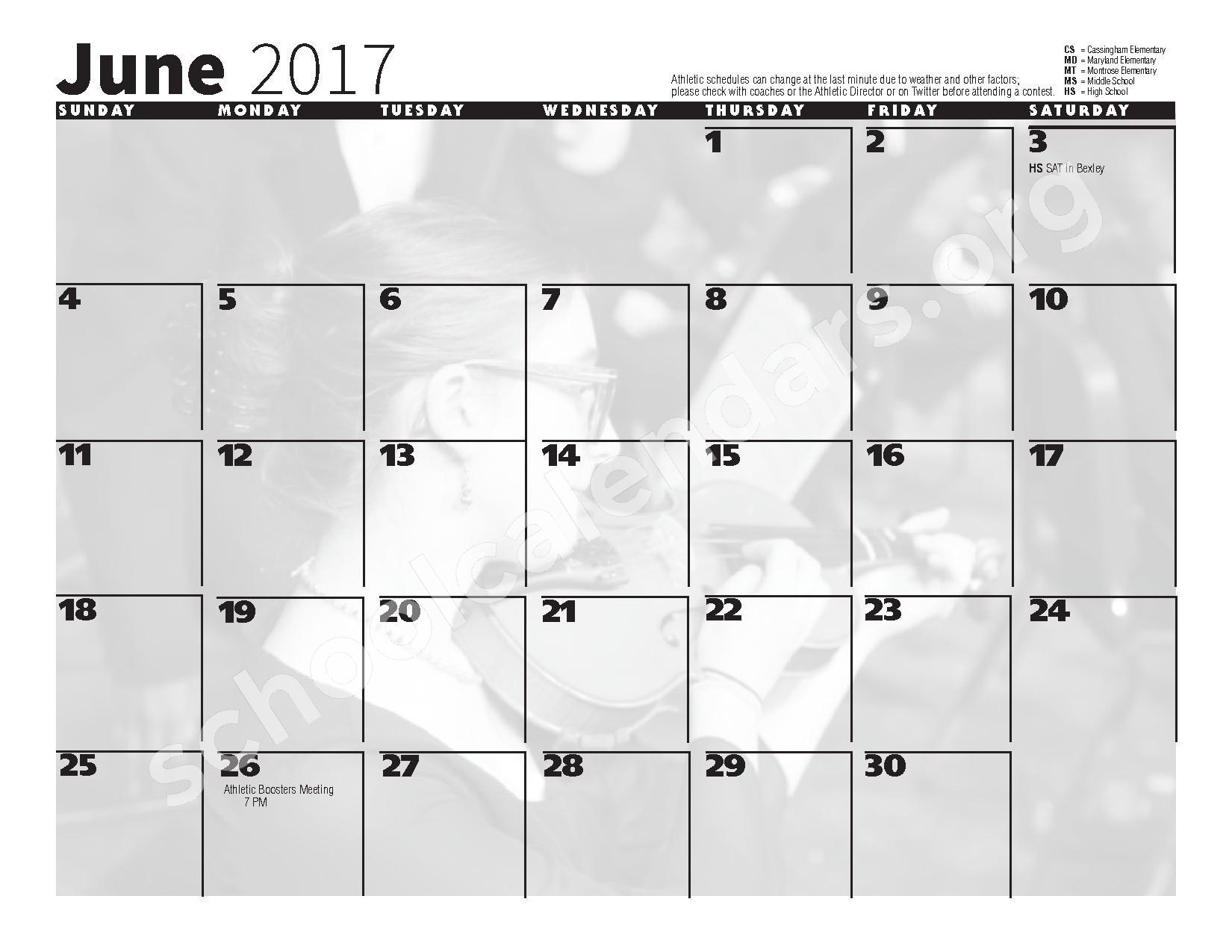 2016 - 2017 School Calendar – Bexley City School District – page 12