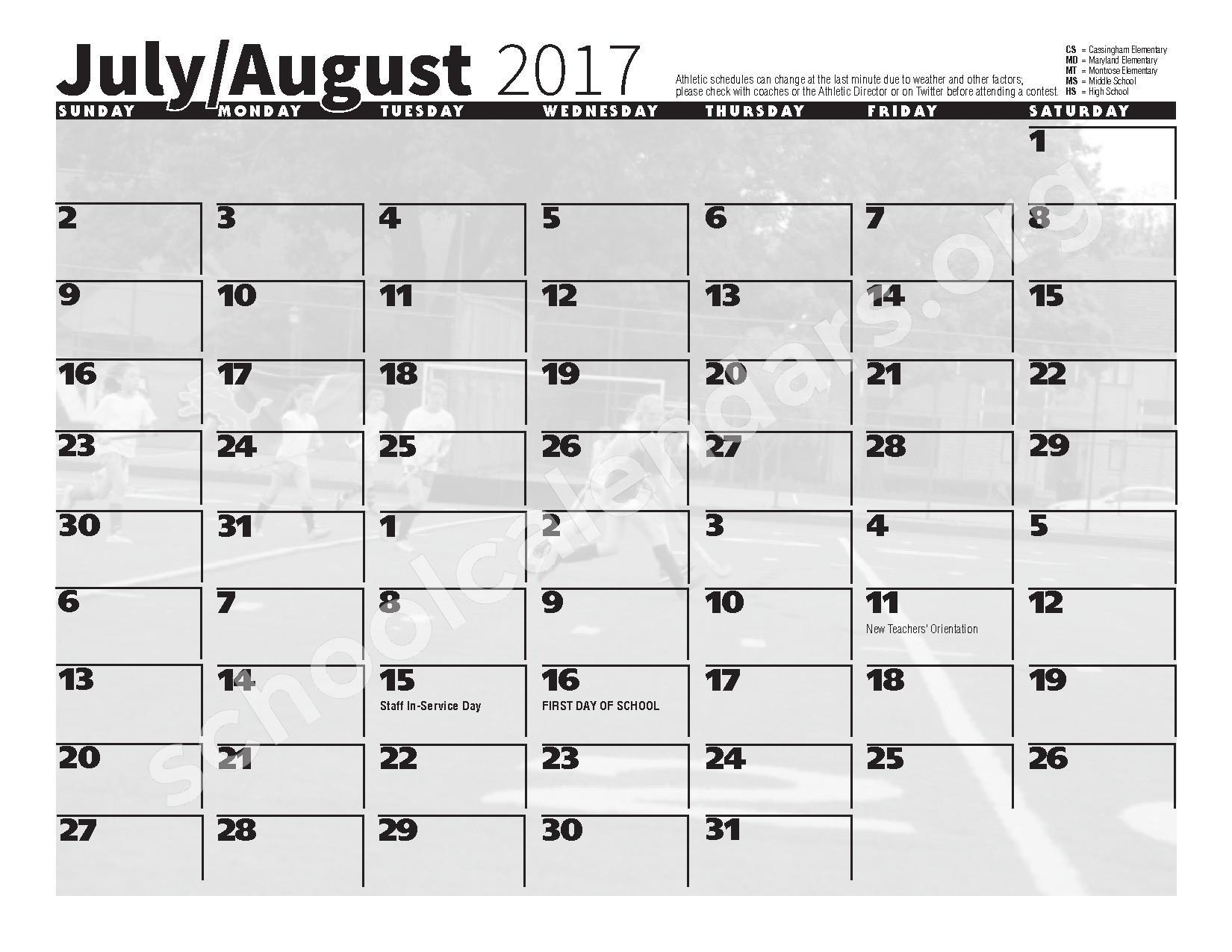 2016 - 2017 School Calendar – Bexley City School District – page 13