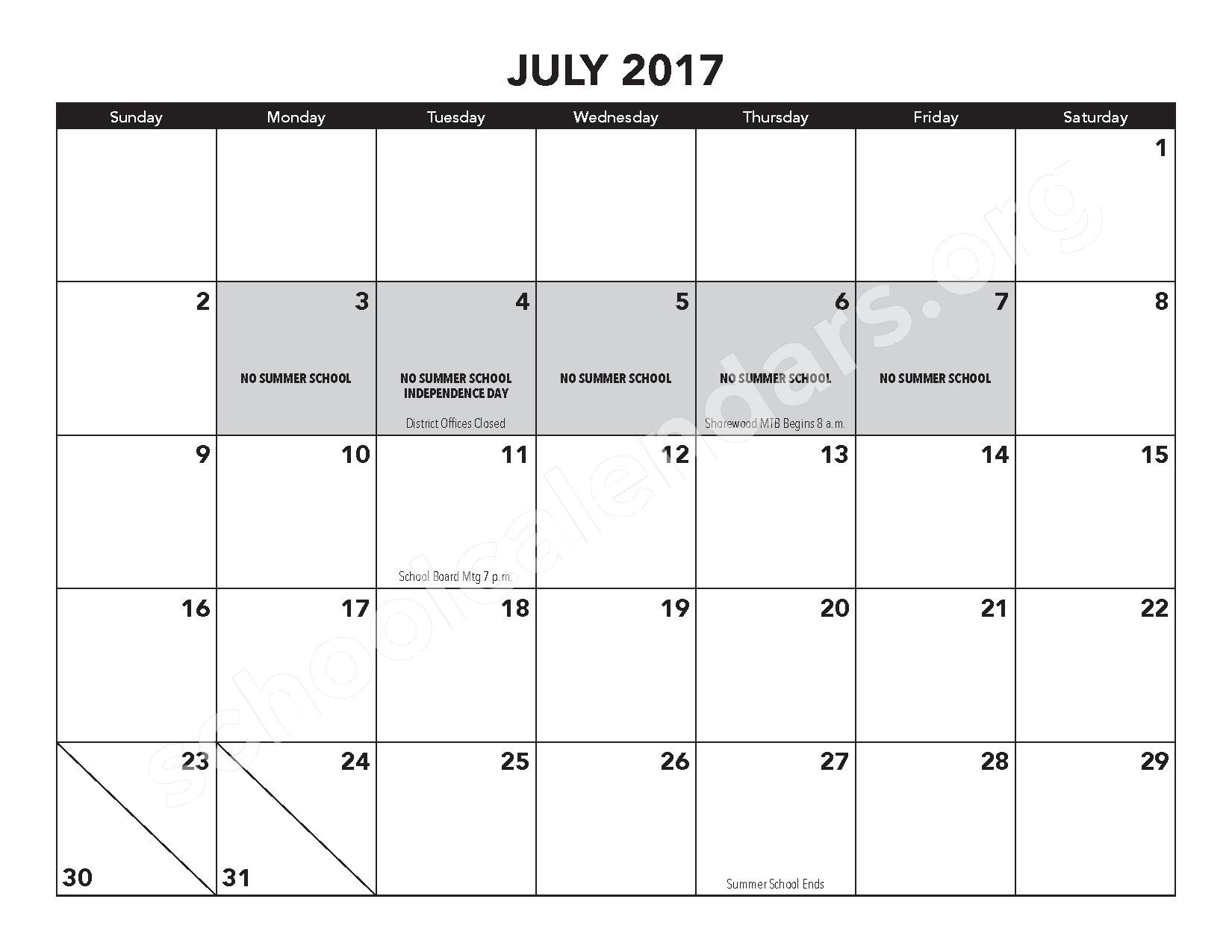 2016 - 2017 District Calendar – Atwater Elementary School – page 17