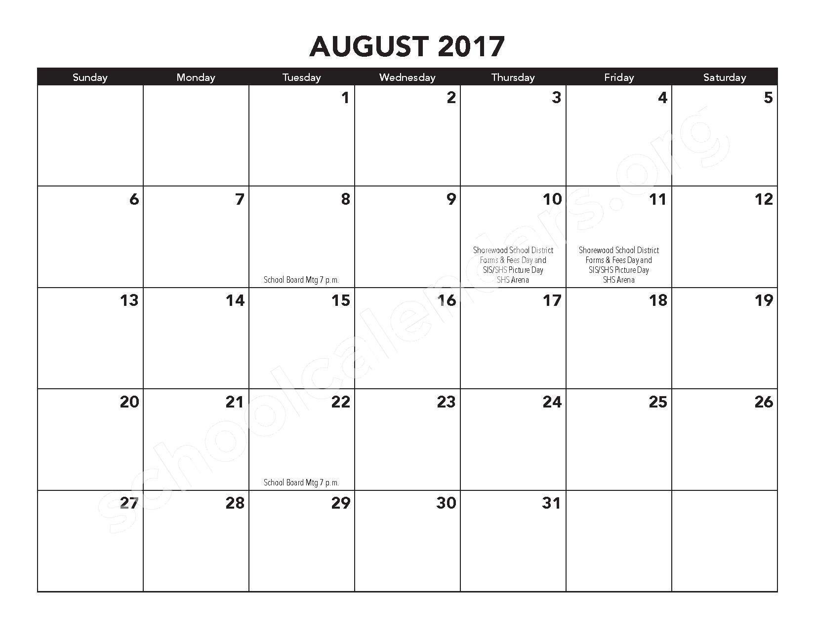 2016 - 2017 District Calendar – Atwater Elementary School – page 18