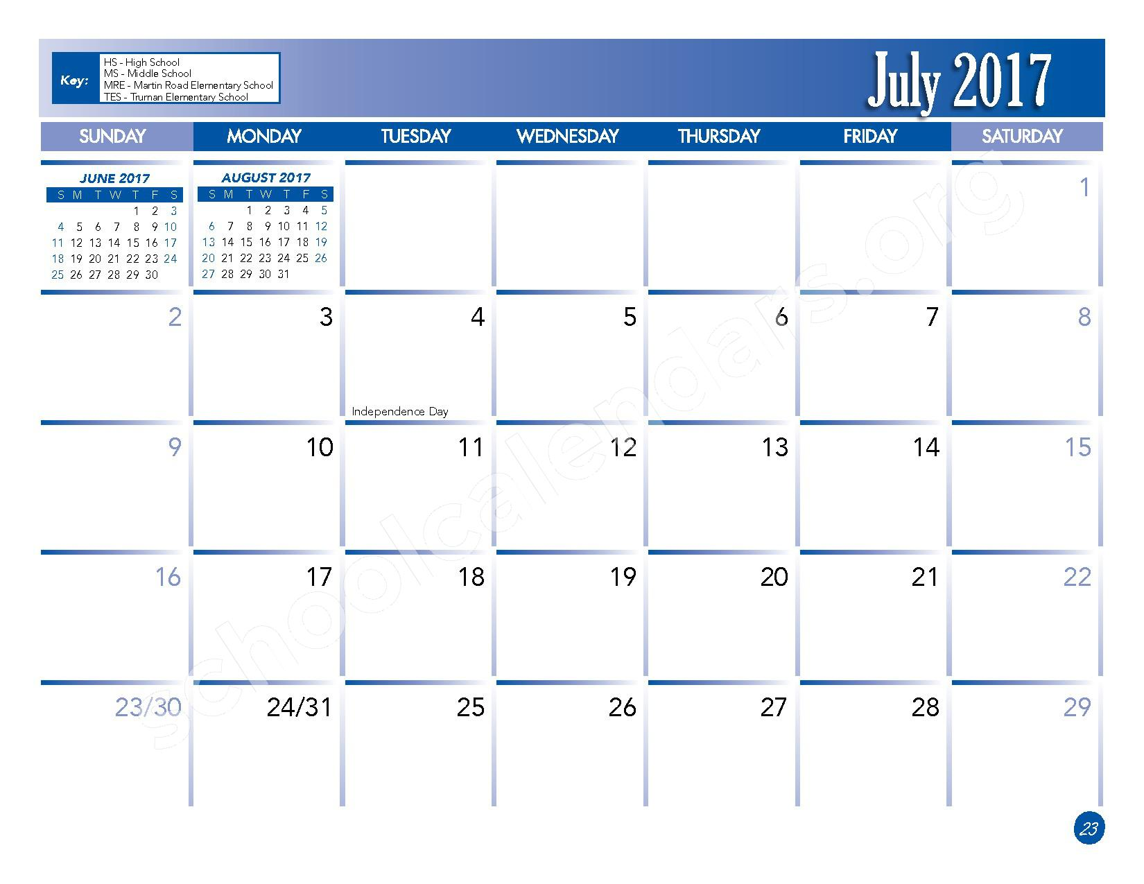 2016 - 2017 School Calendar – Lackawanna City School District – page 25