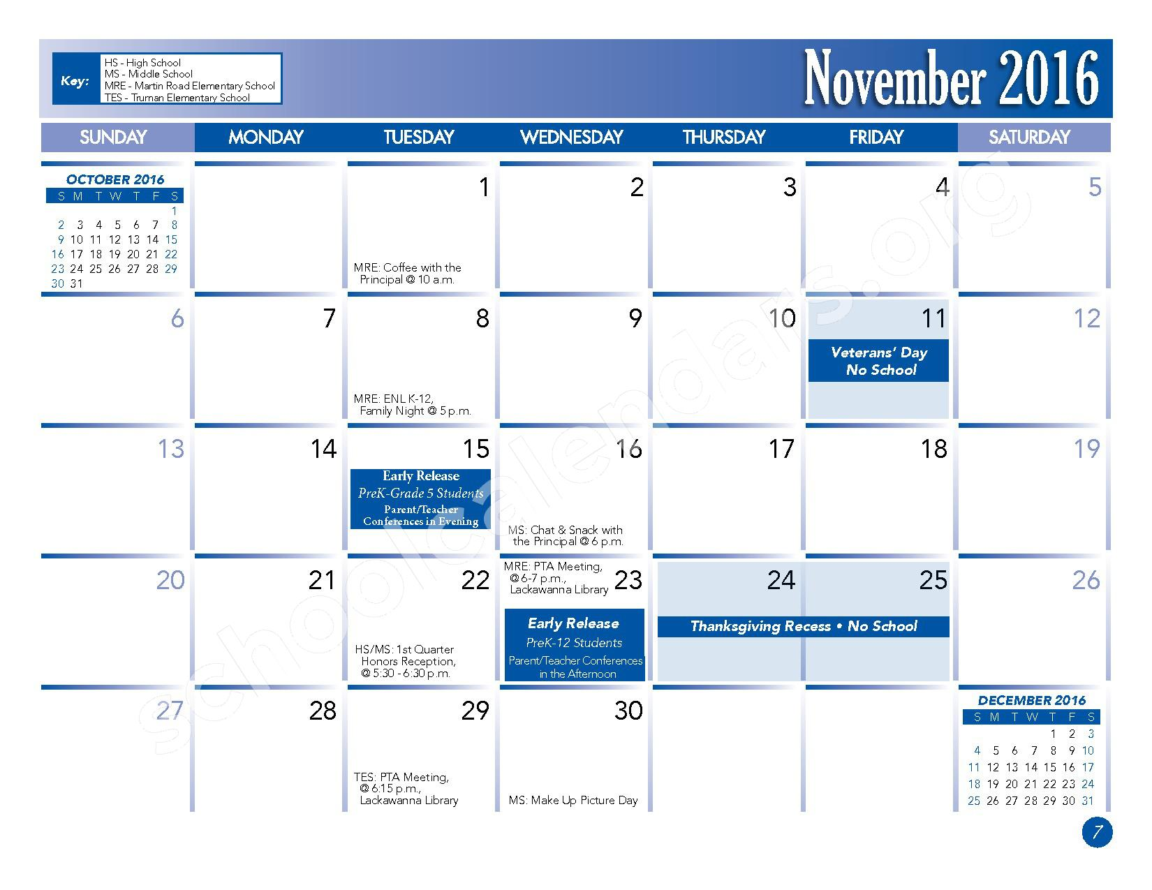 2016 - 2017 School Calendar – Lackawanna City School District – page 9