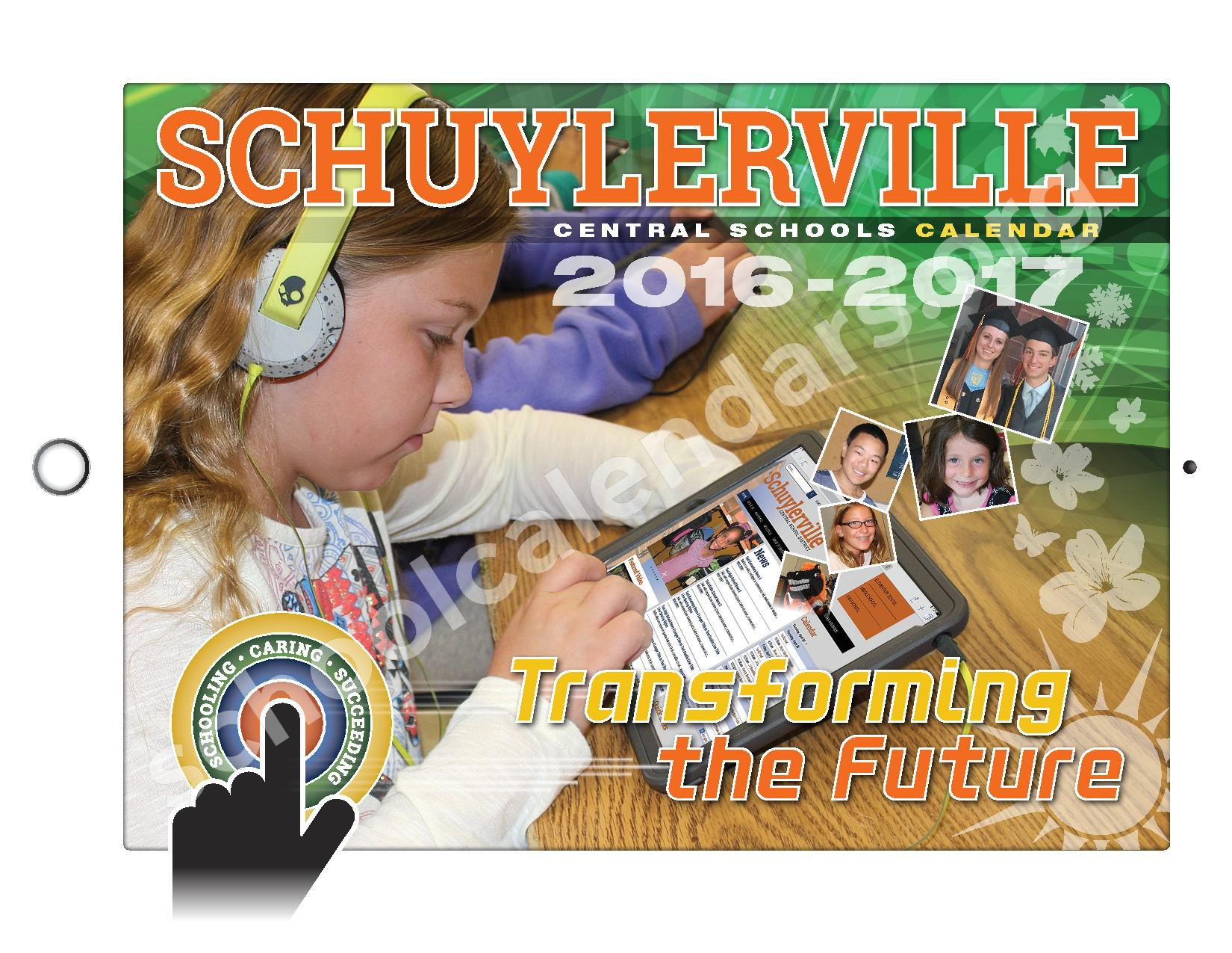 2016 - 2017  District Calendar – Schuylerville Central School District – page 1