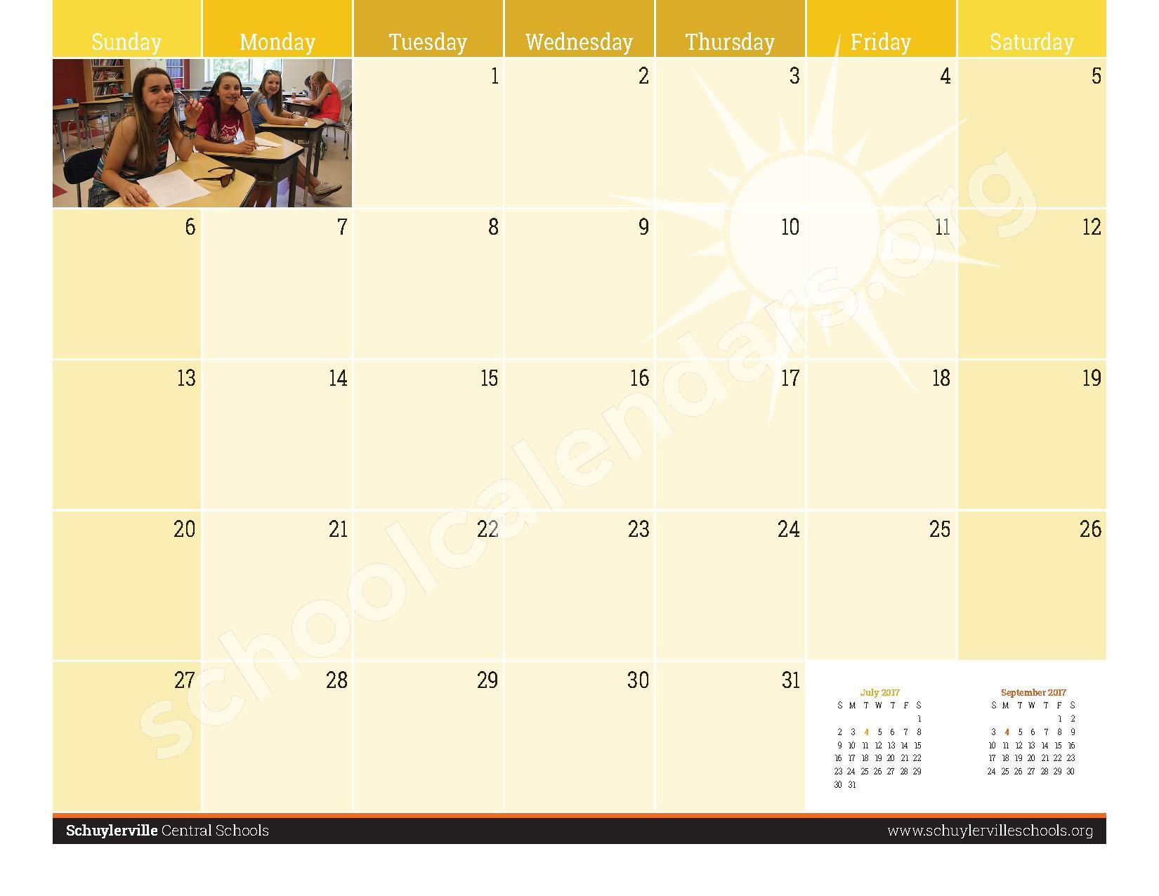 2016 - 2017  District Calendar – Schuylerville Central School District – page 25