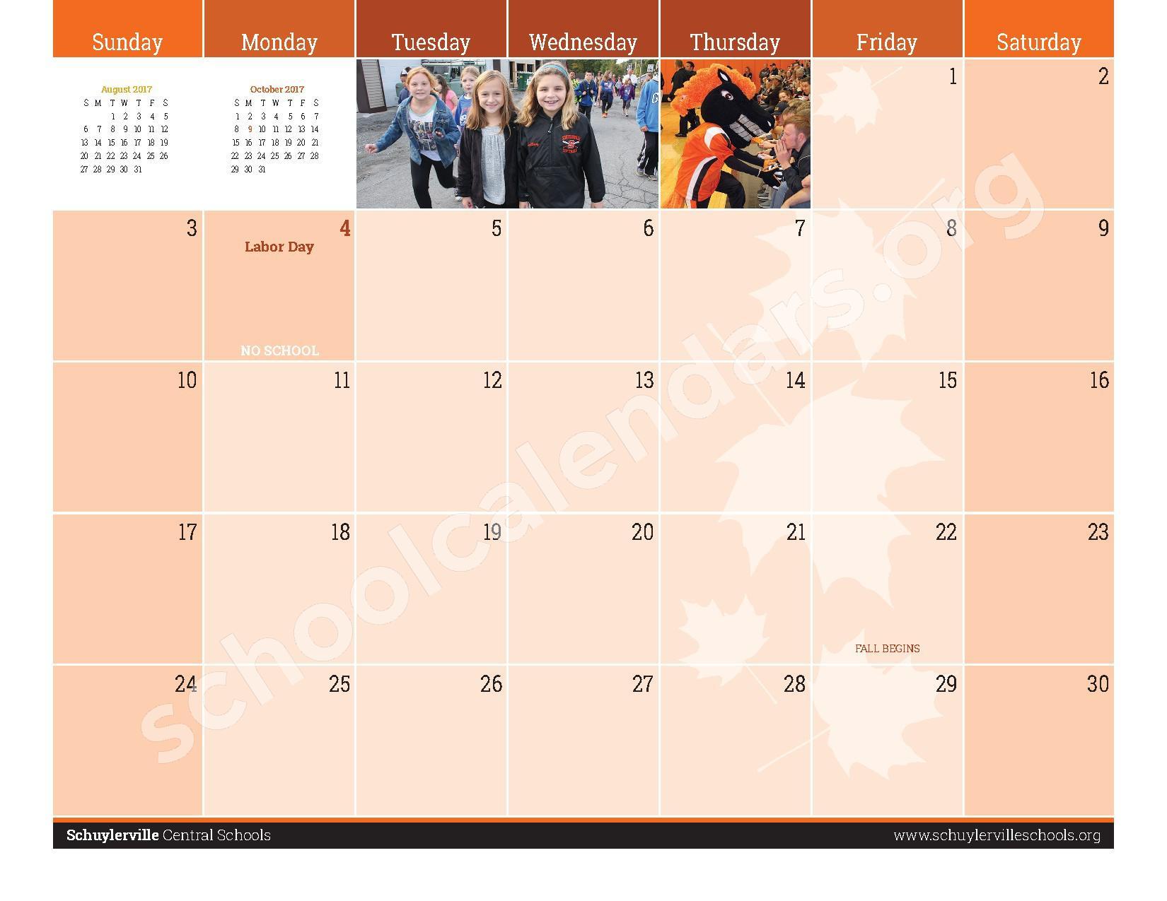 2016 - 2017  District Calendar – Schuylerville Central School District – page 27