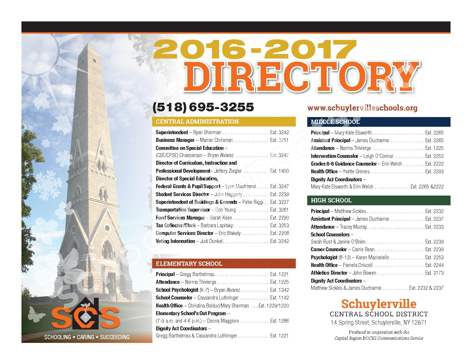 2016 - 2017  District Calendar – Schuylerville Central School District – page 28