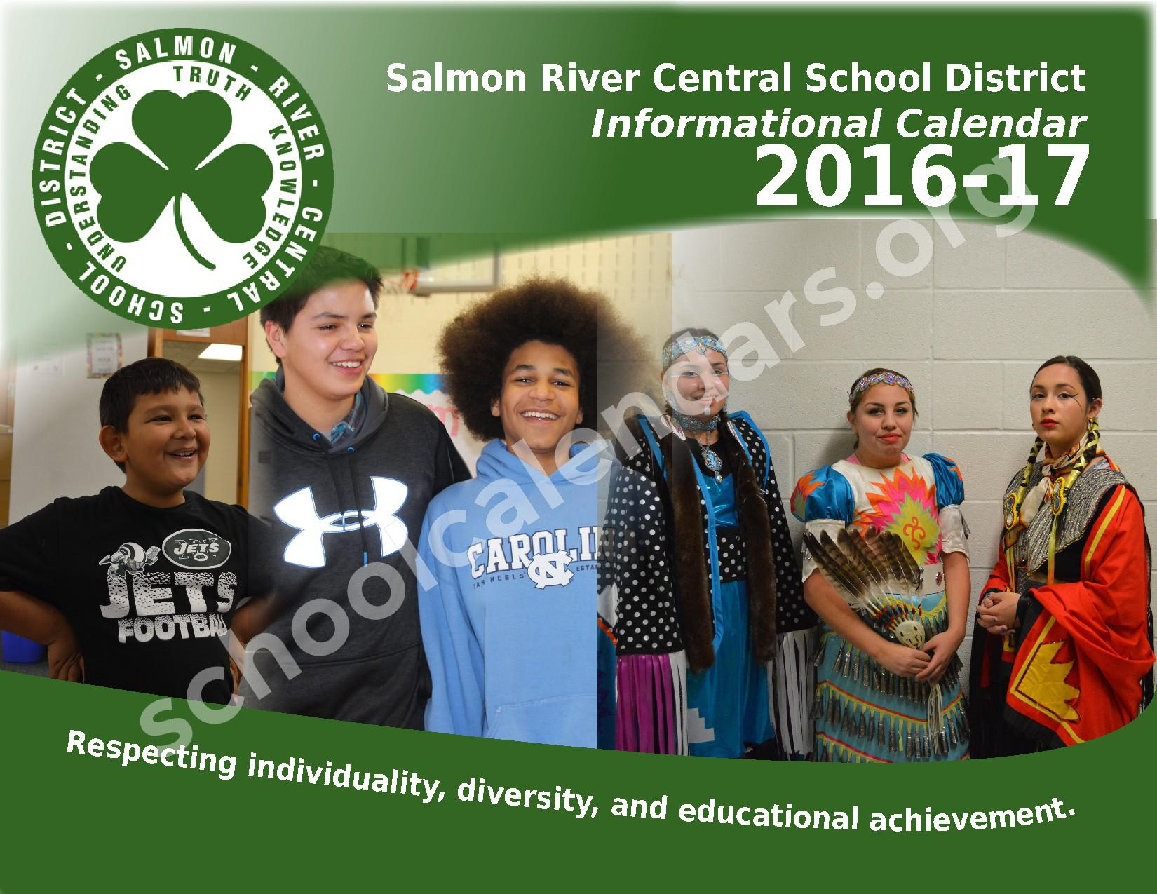 2016 - 2017 School Calendar – Salmon River Central School District – page 1