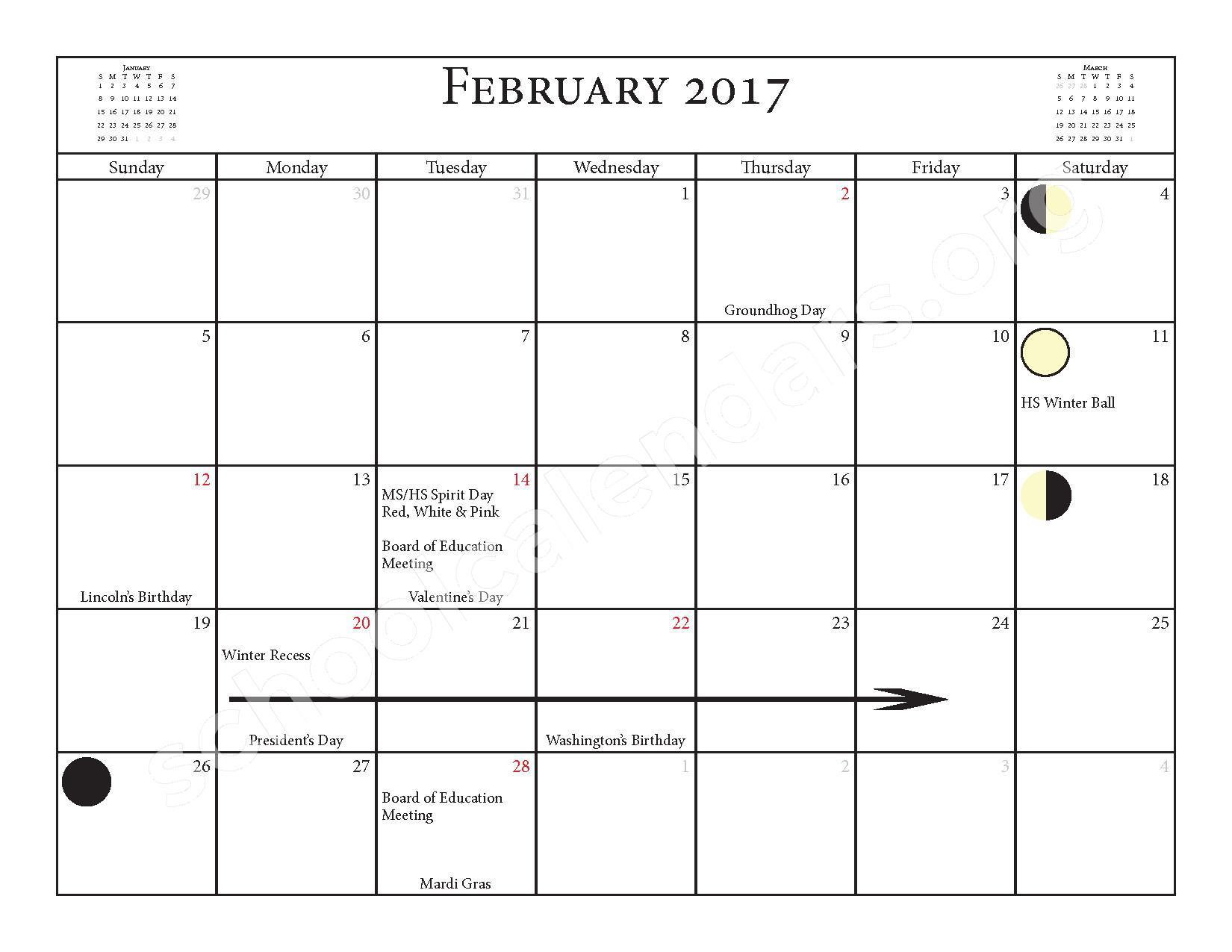 2016 - 2017 School Calendar – Salmon River Central School District – page 13