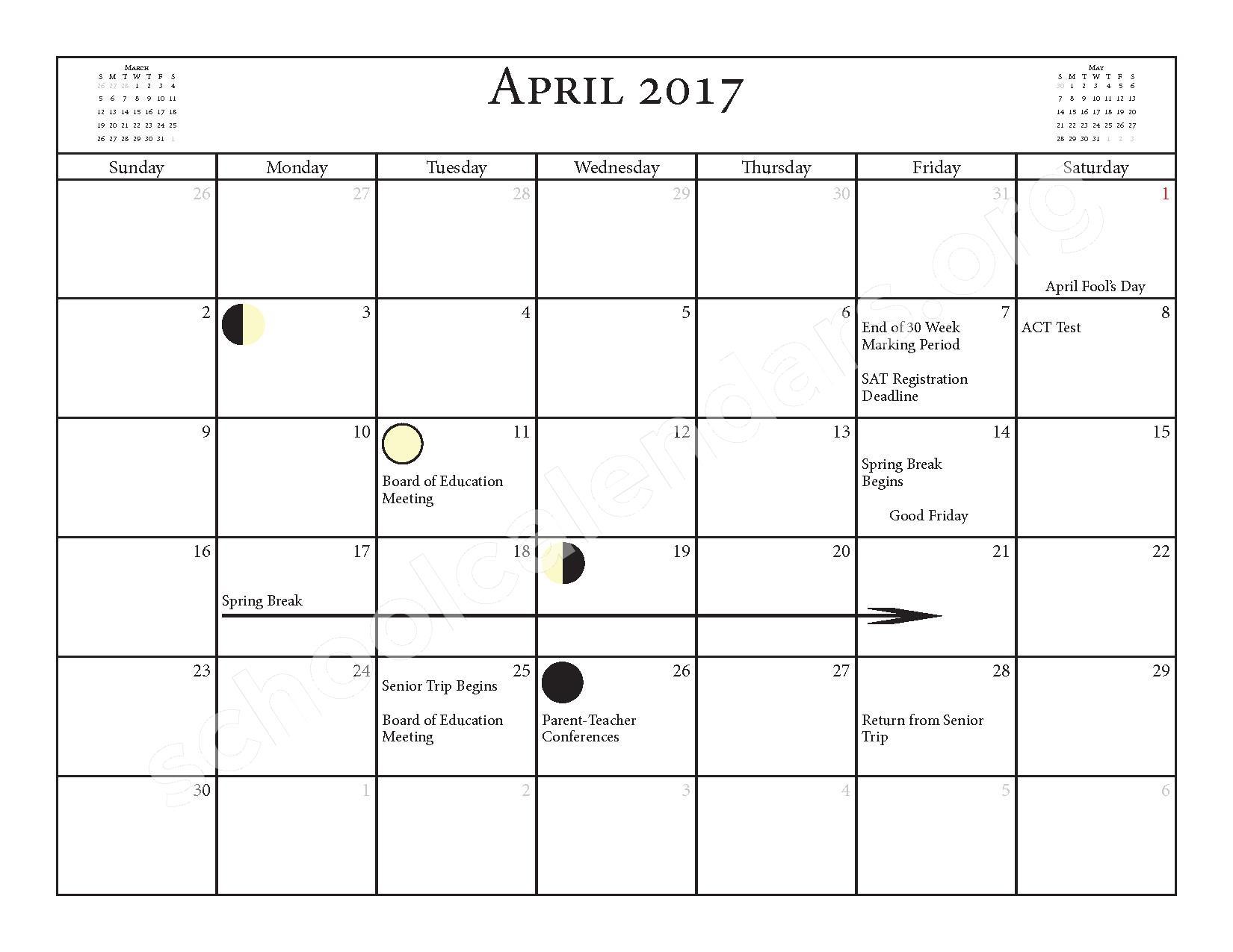2016 - 2017 School Calendar – Salmon River Central School District – page 17