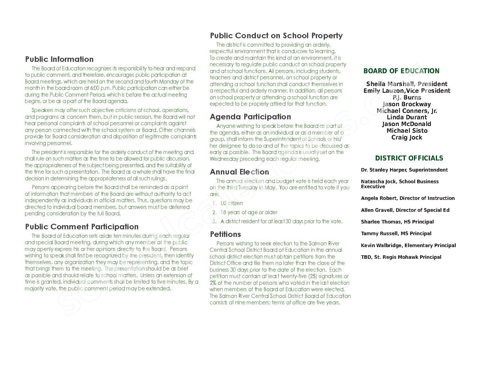 2016 - 2017 School Calendar – Salmon River Central School District – page 26