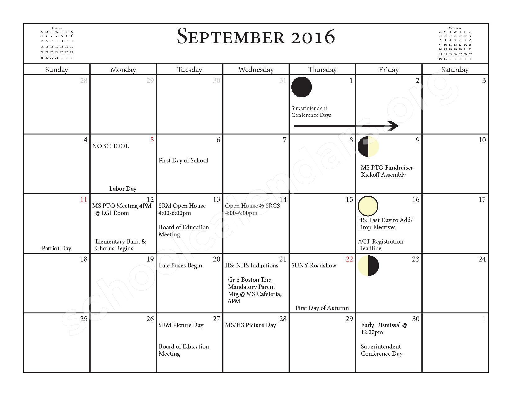 2016 - 2017 School Calendar – Salmon River Central School District – page 3