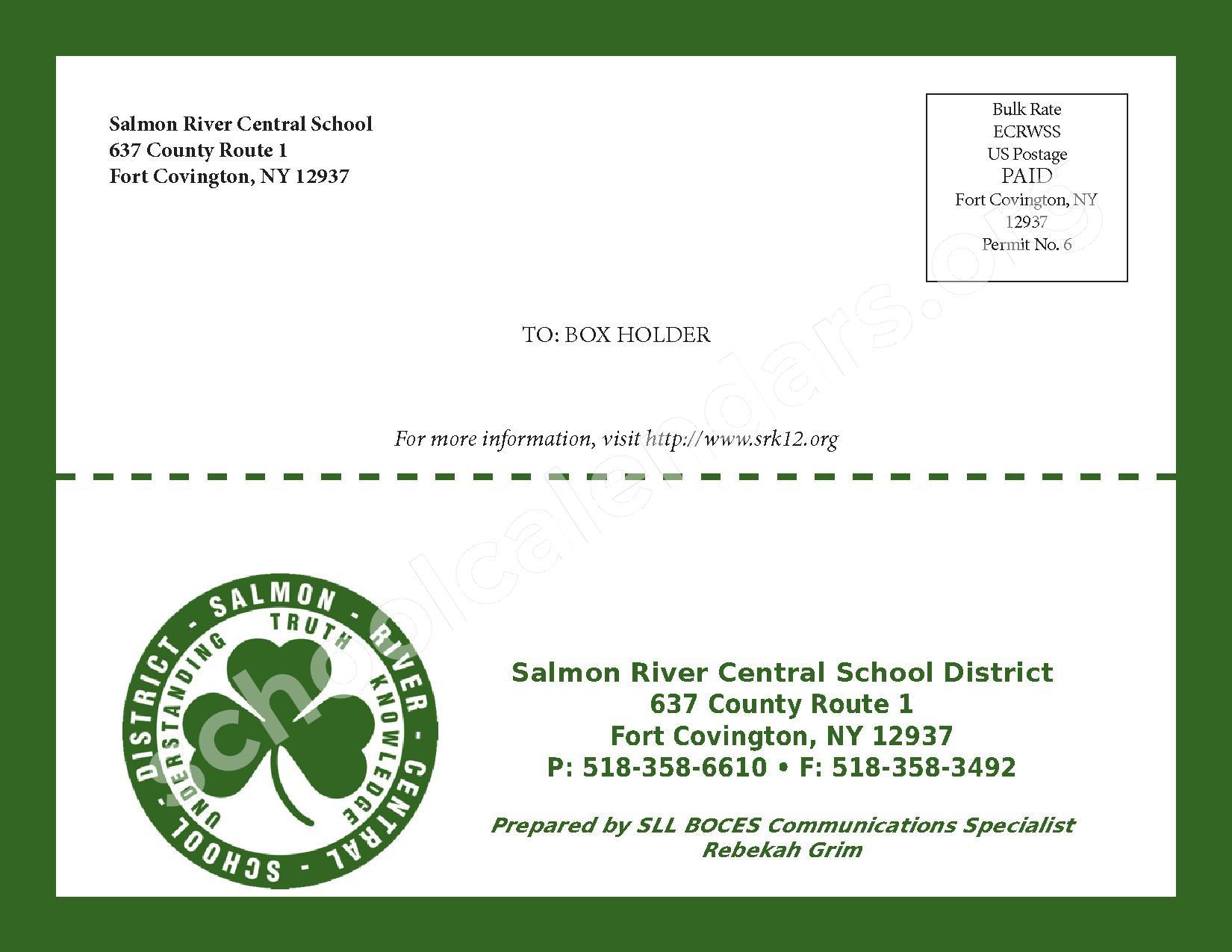 2016 - 2017 School Calendar – Salmon River Central School District – page 40