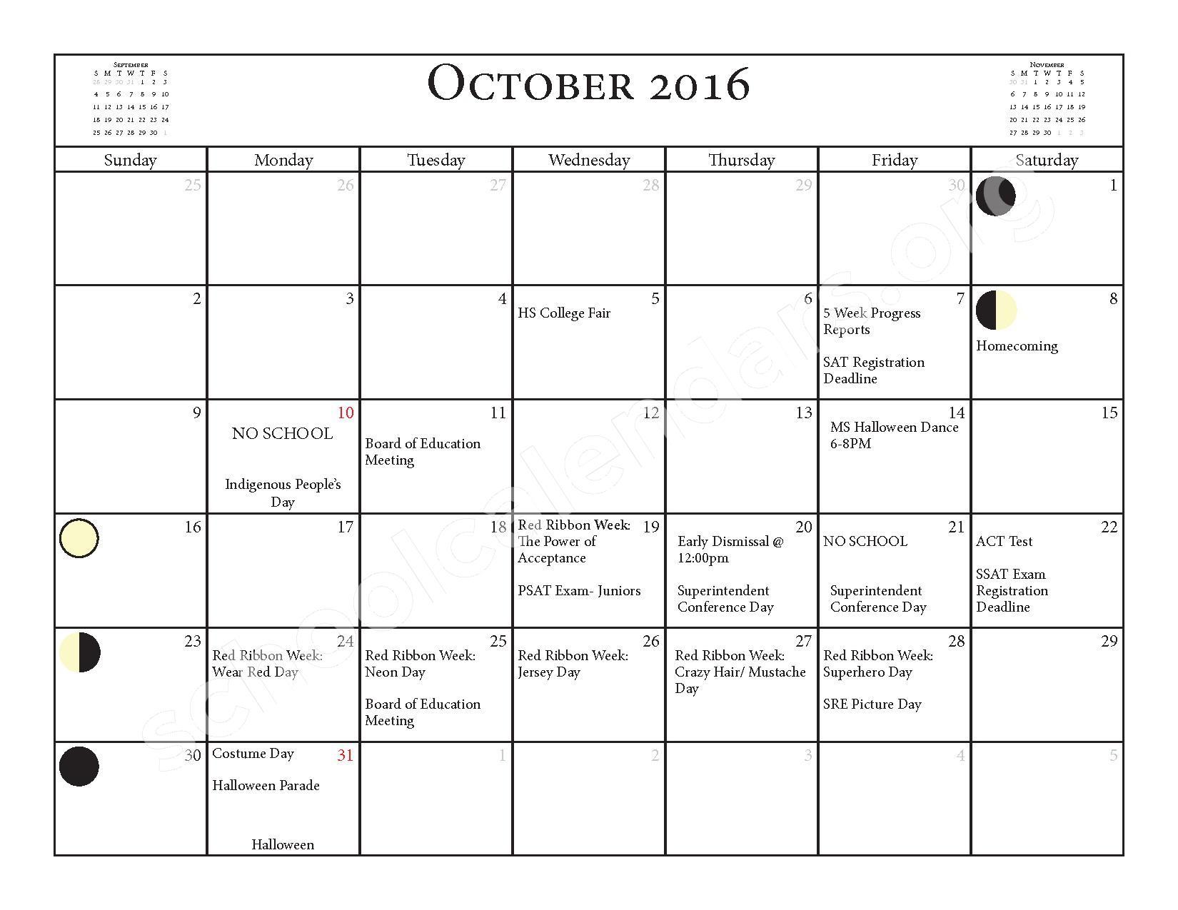 2016 - 2017 School Calendar – Salmon River Central School District – page 5