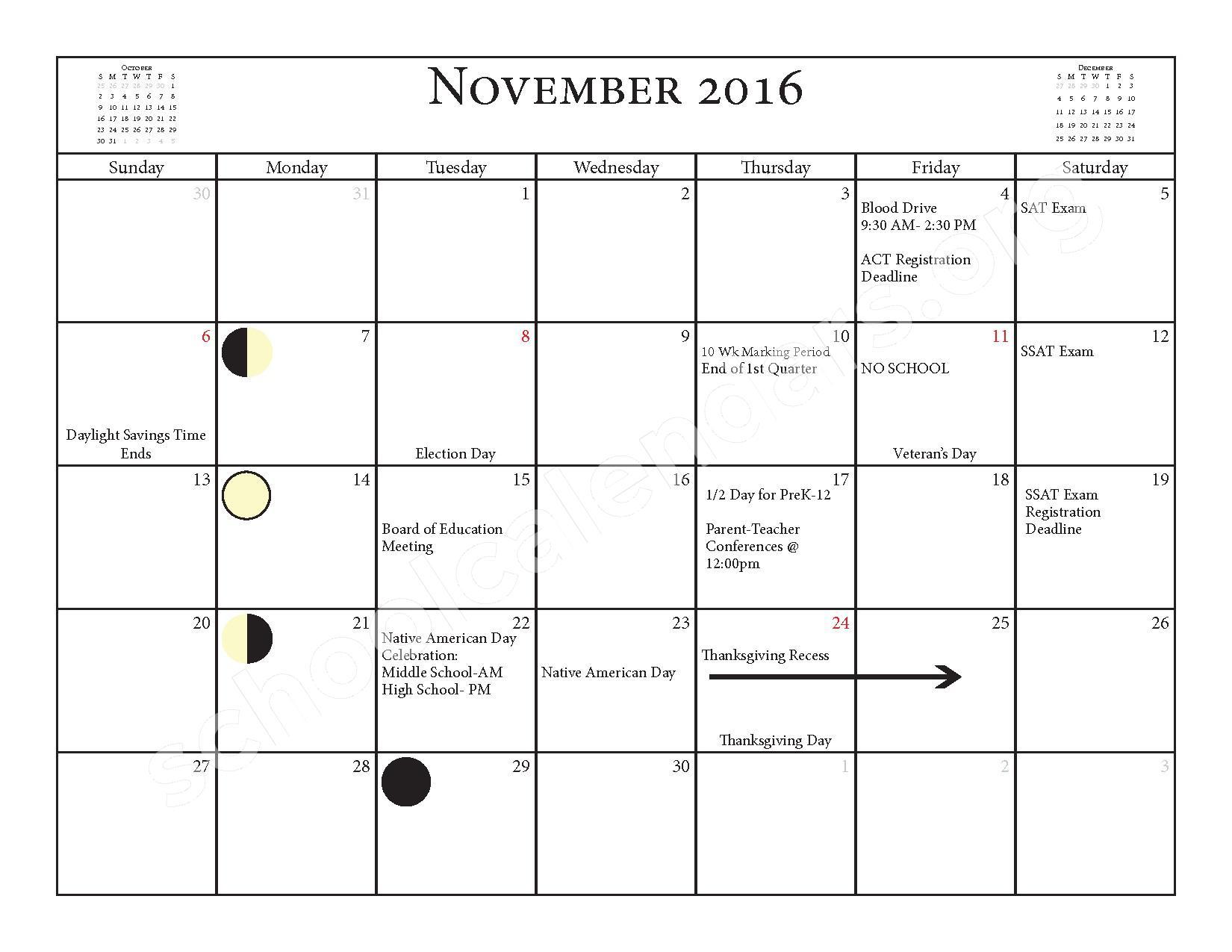 2016 - 2017 School Calendar – Salmon River Central School District – page 7