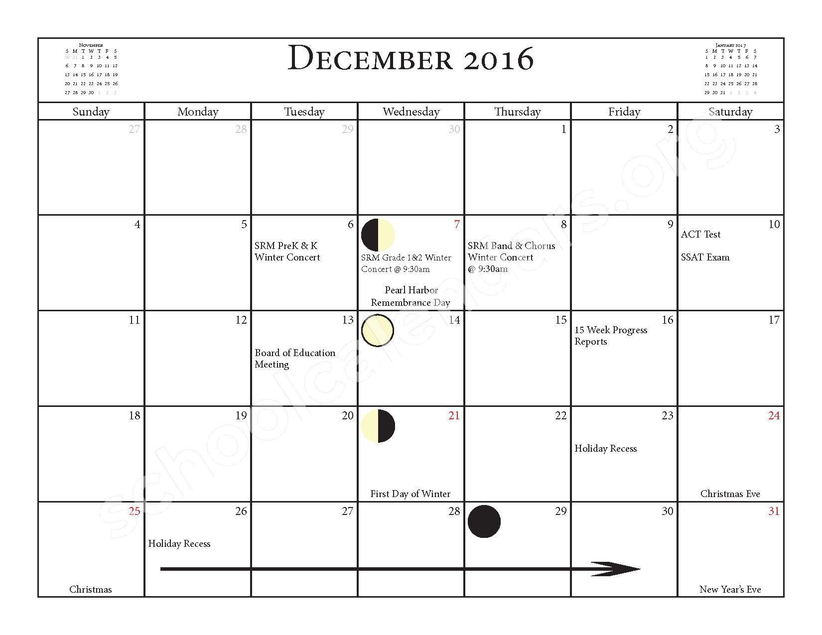 2016 - 2017 School Calendar – Salmon River Central School District – page 9