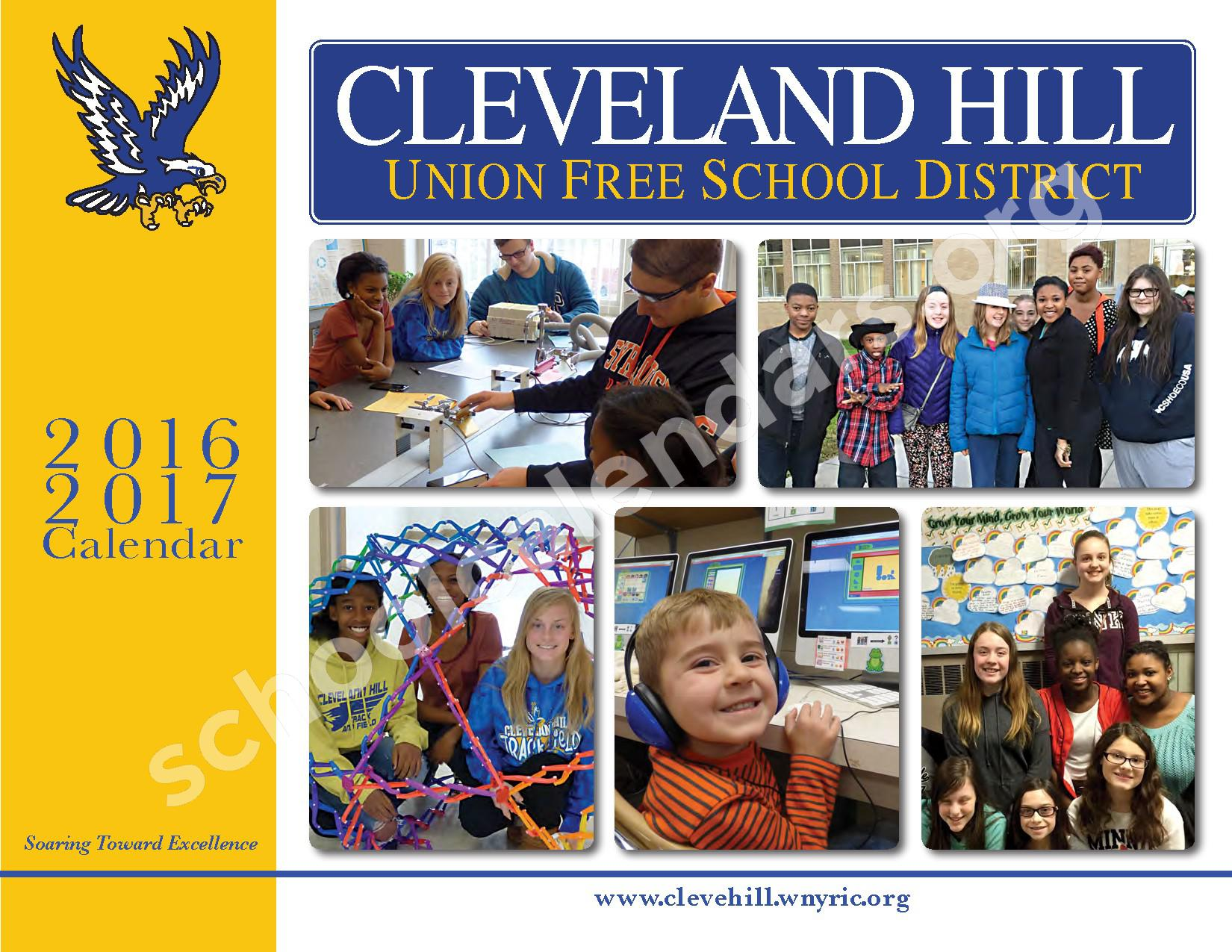 2017 - 2018 District Calendar – Cleveland Hill Union Free School District – page 1