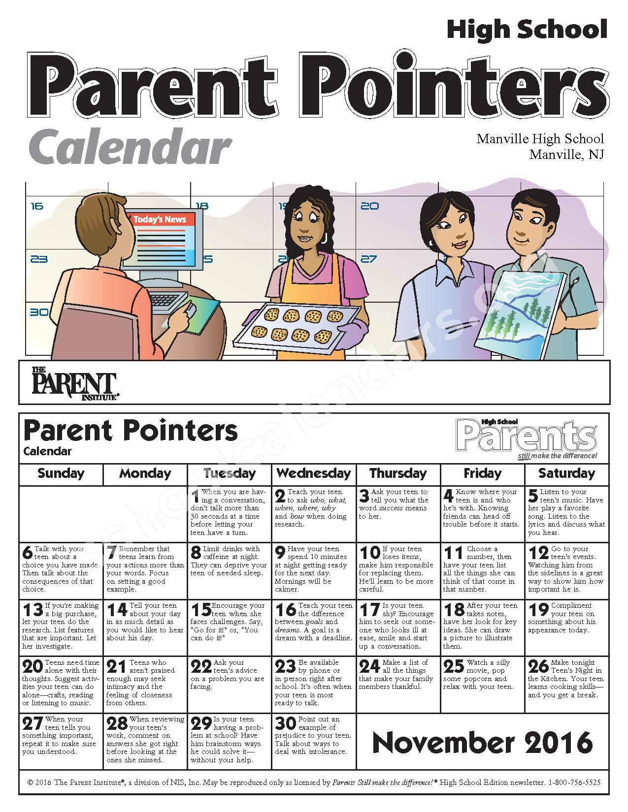 2017 - 2018 District Calendar – Roosevelt School – page 1