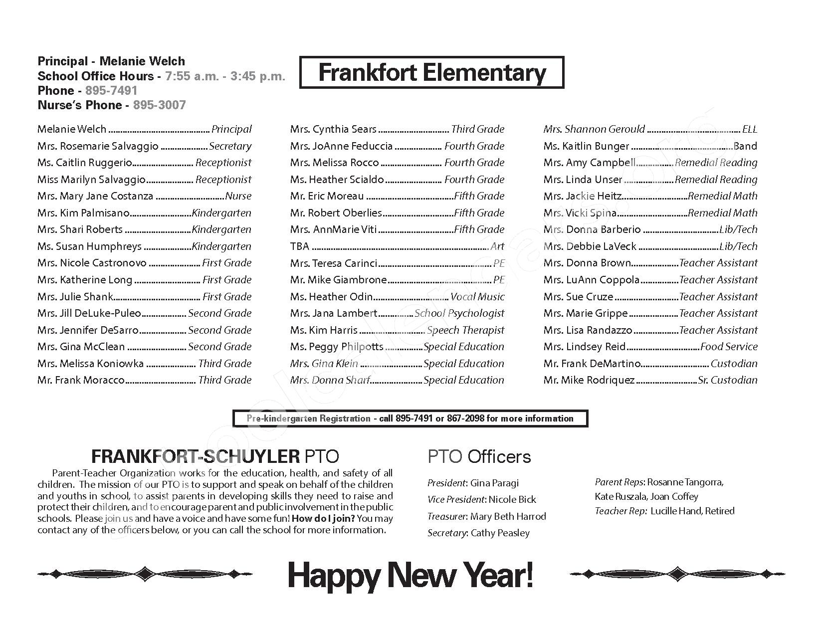 2016 - 2017 District Calendar – West Frankfort Elementary School – page 12
