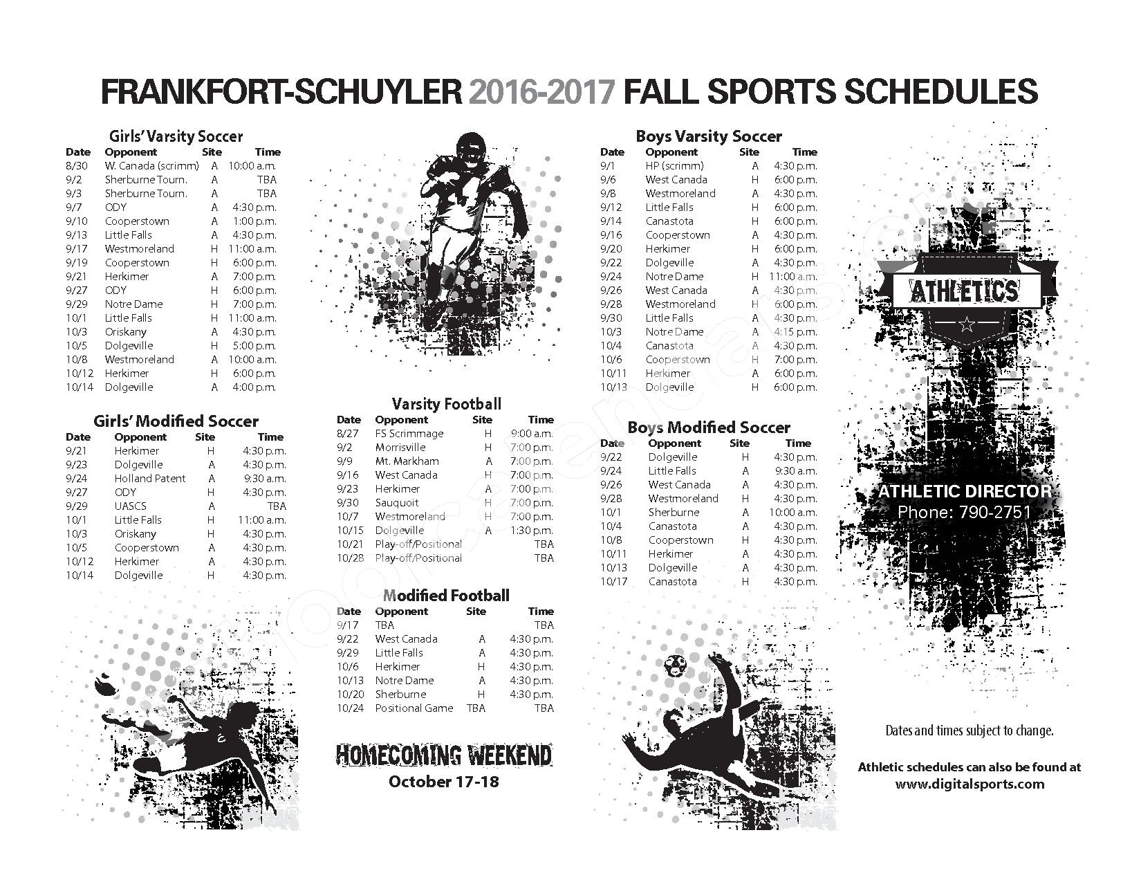 2016 - 2017 District Calendar – Frankfort-Schuyler Central School District – page 4