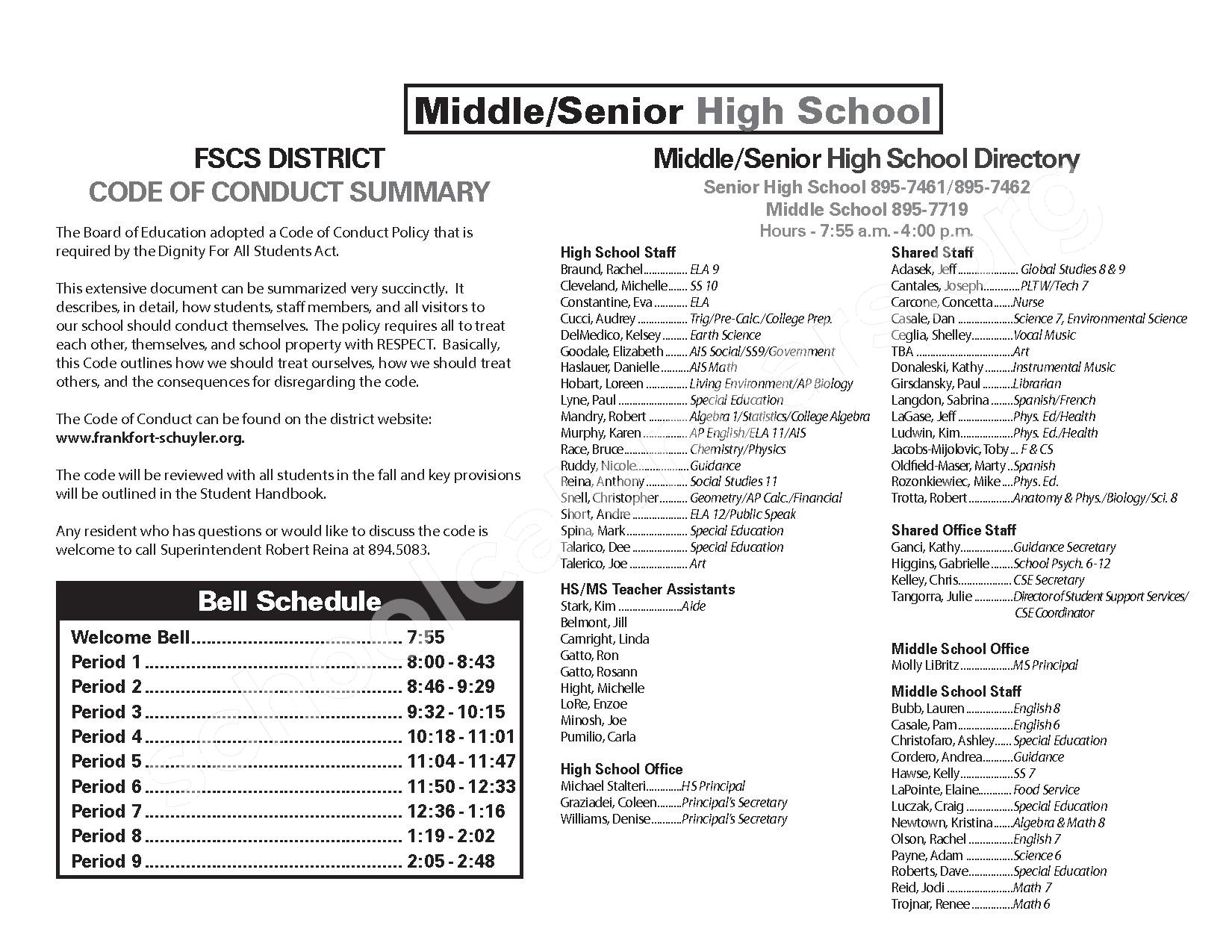 2016 - 2017 District Calendar – Frankfort-Schuyler Central School District – page 8