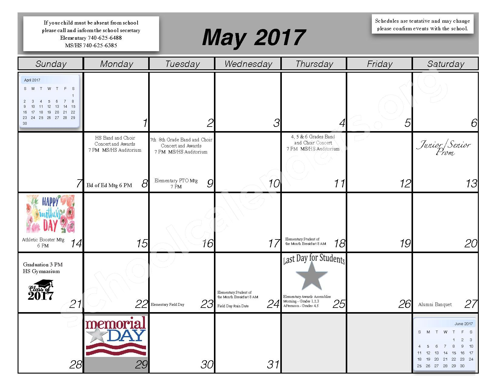 2016 - 2017 School Calendar – Centerburg Local Schools – page 10