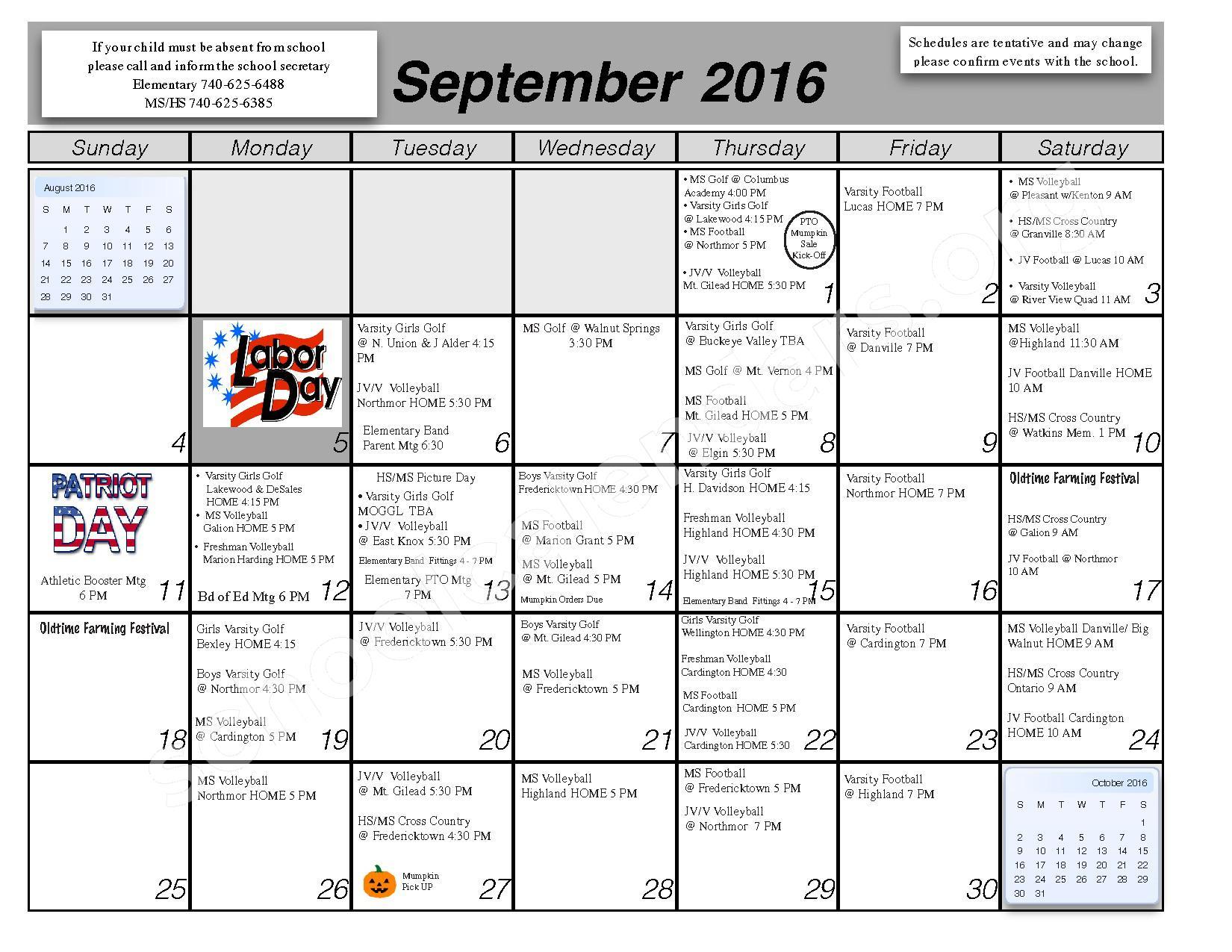 2016 - 2017 School Calendar – Centerburg Local Schools – page 2