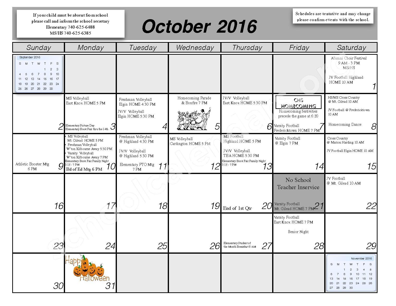 2016 - 2017 School Calendar – Centerburg Local Schools – page 3