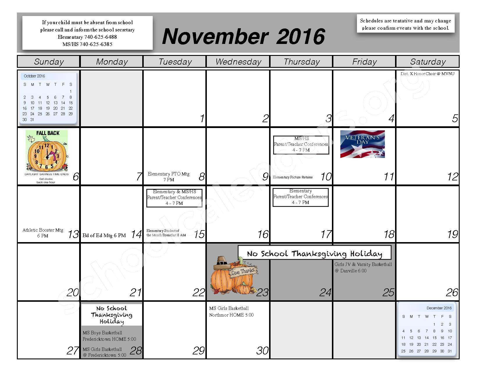 2016 - 2017 School Calendar – Centerburg Local Schools – page 4