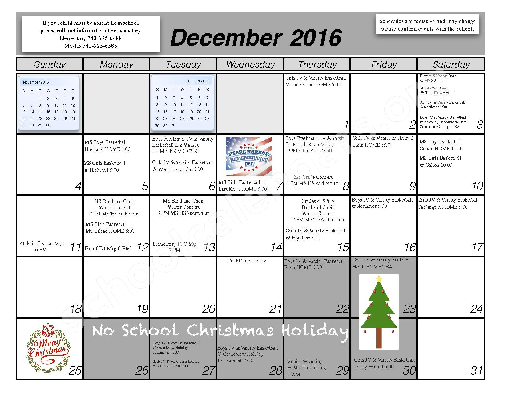 2016 - 2017 School Calendar – Centerburg Local Schools – page 5