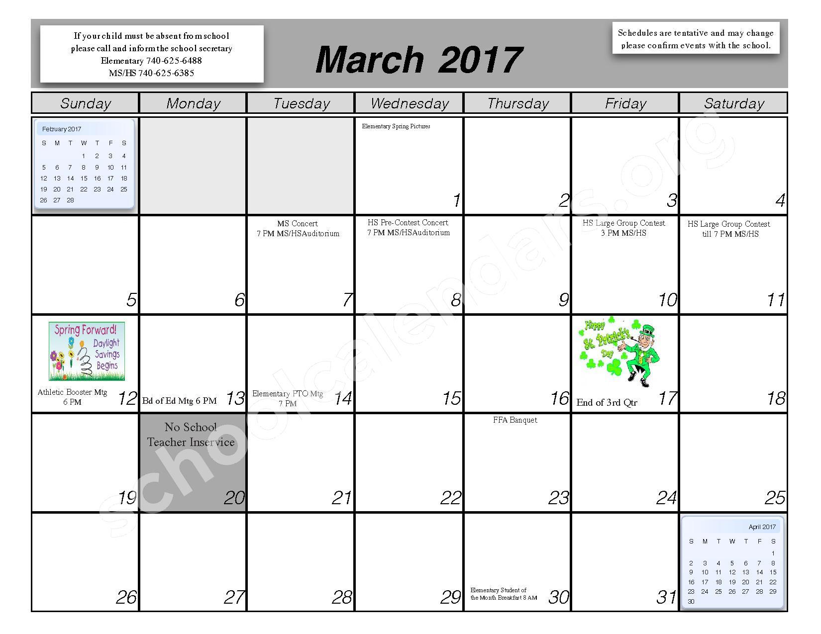 2016 - 2017 School Calendar – Centerburg Local Schools – page 8